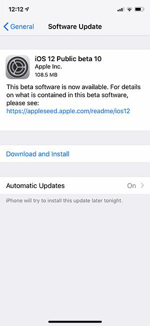 iOS Public Beta 10