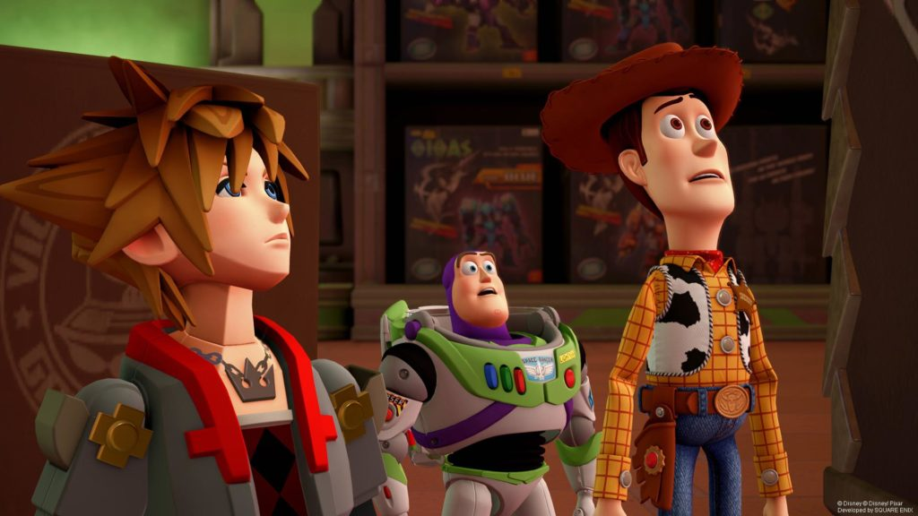 Kingdom Hearts III Sora, Woody and Buzz