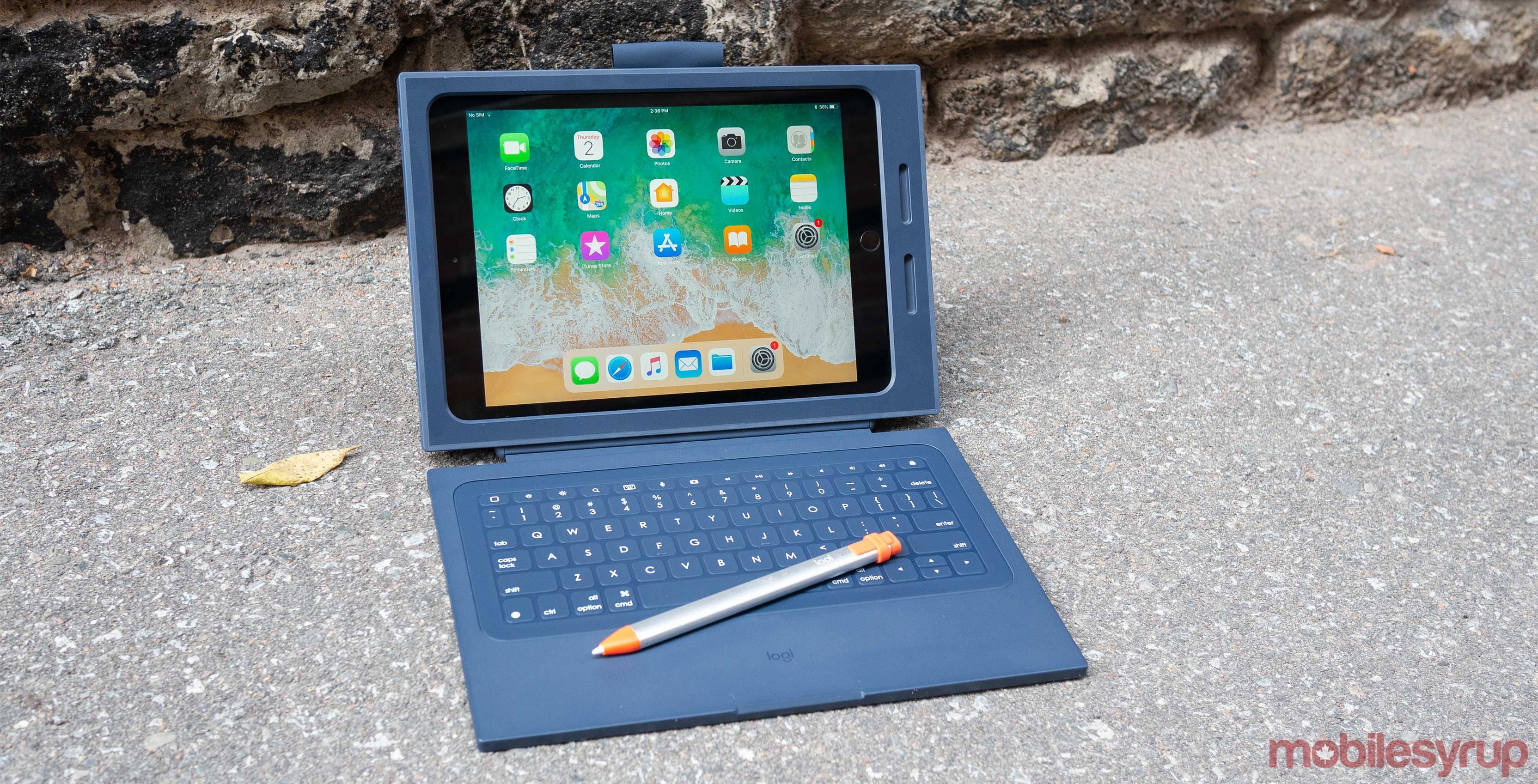 8d92a41055f Logitech's Rugged Combo 2 iPad case turns Apple's 2018 9.7-inch iPad with  Apple Pencil into an absolute monstrosity.