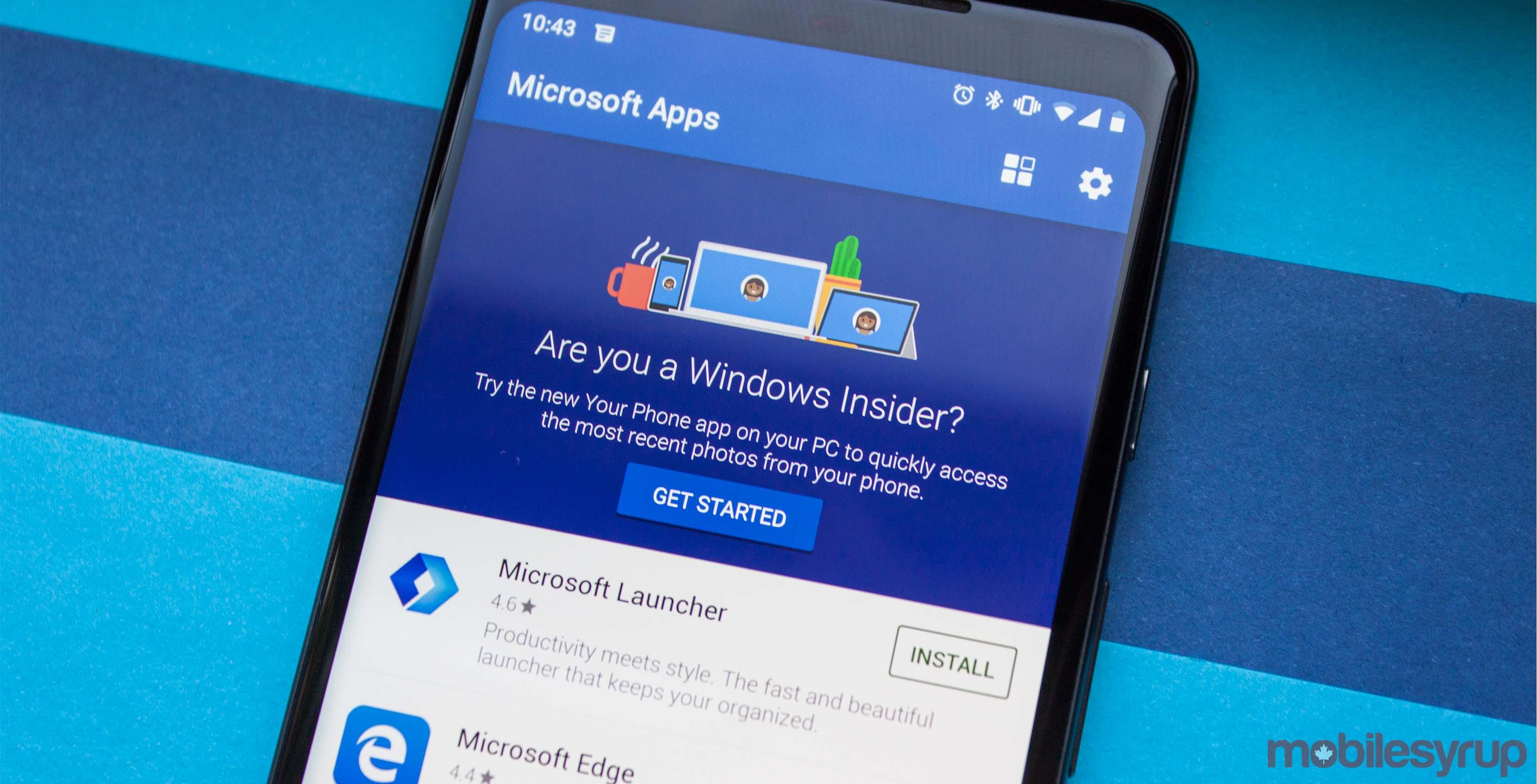 Microsoft Apps app