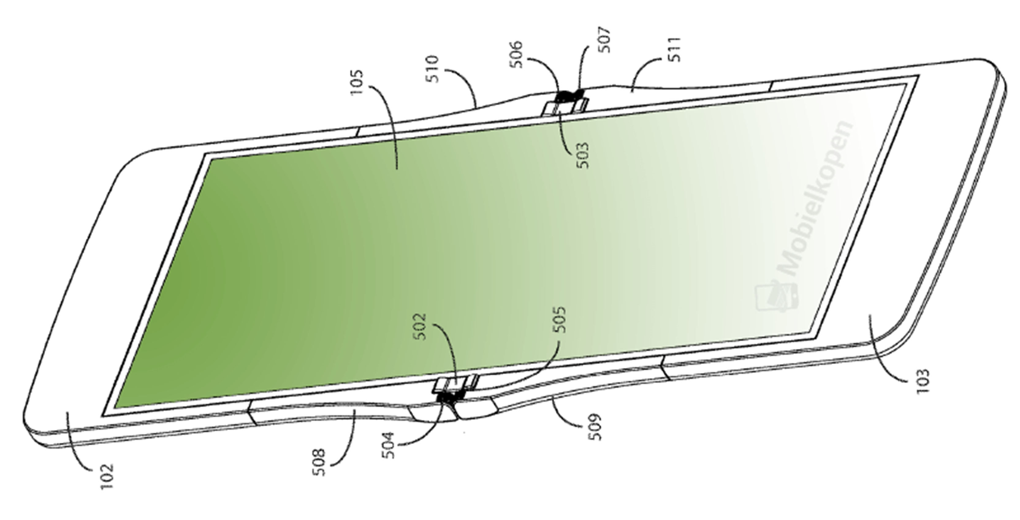 Motorola folding phone patent