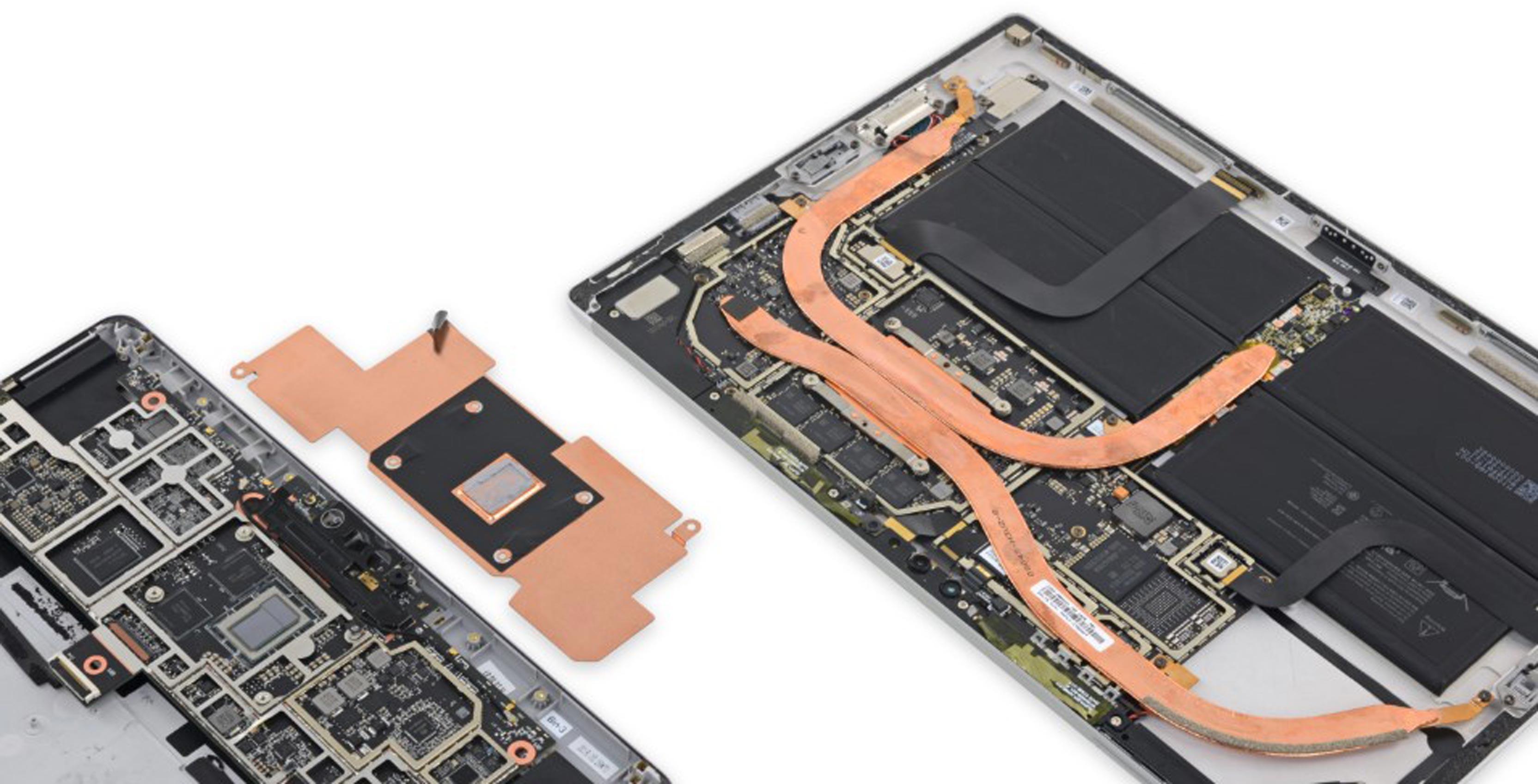 Surface Go's copper heat shield