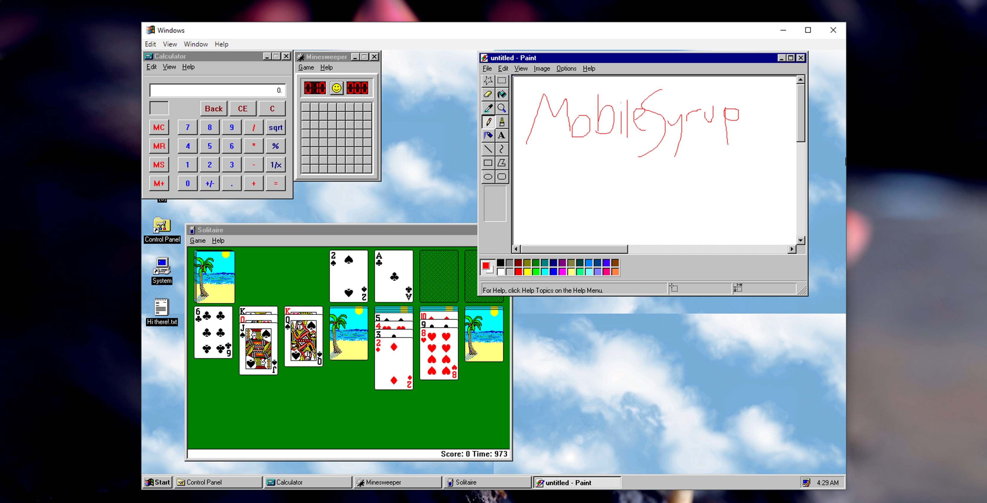 Relive your glory days with this Windows 95 application