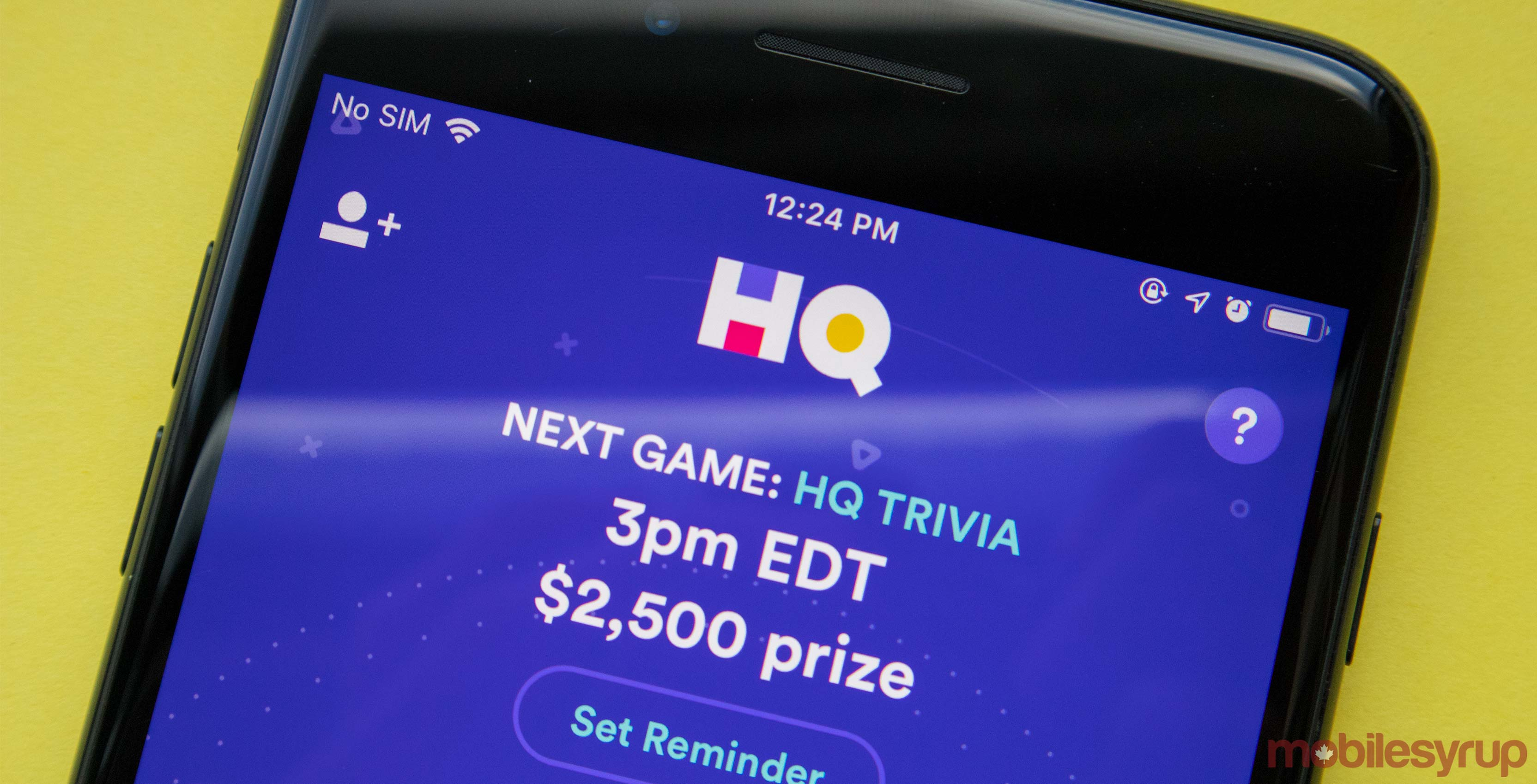 HQ Trivia on iPhone