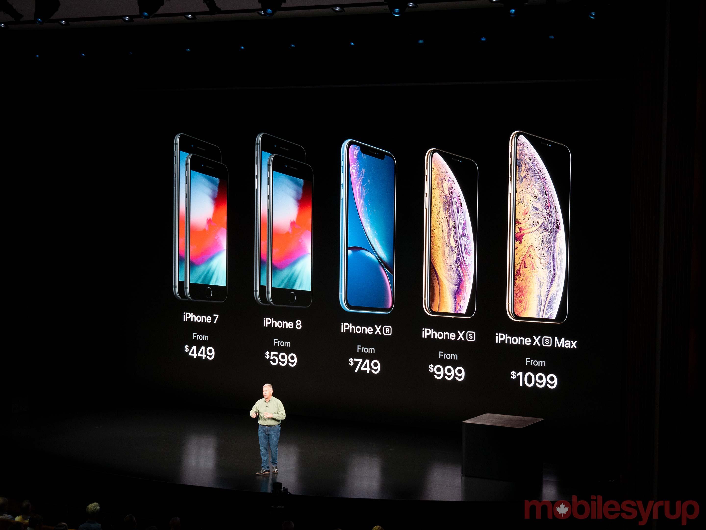 2018 iPhone line