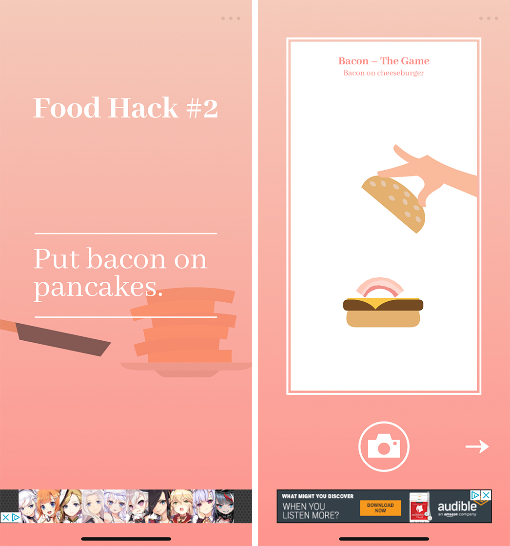 Starting and completing levels in Bacon - The Game
