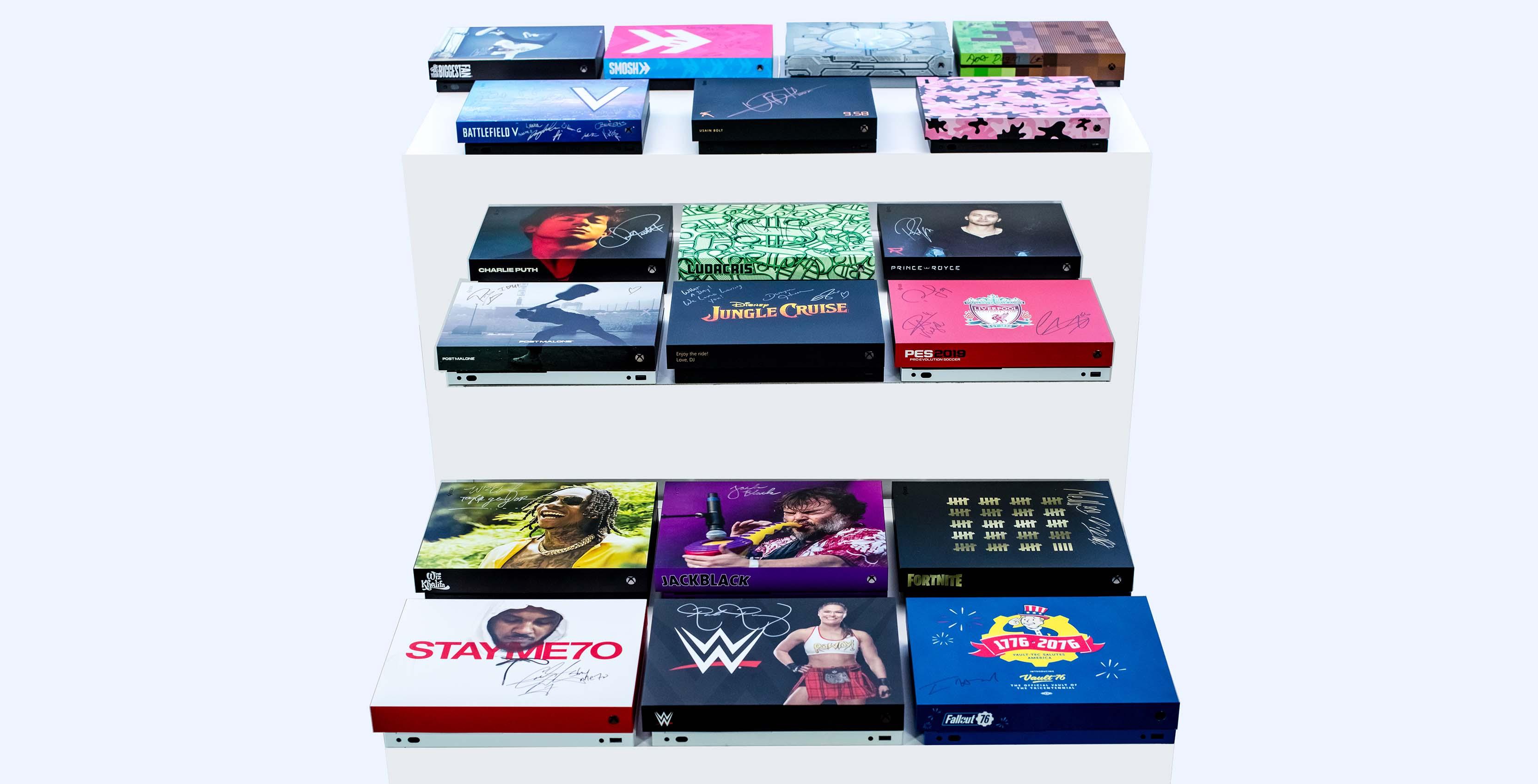 Custom Xbox One X consoles