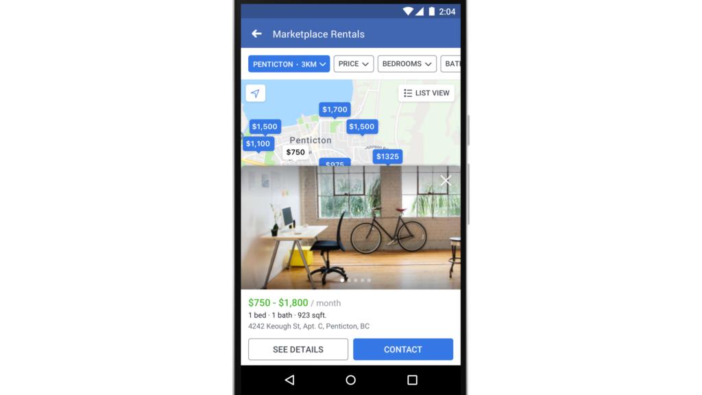 Facebook Marketplace on phone