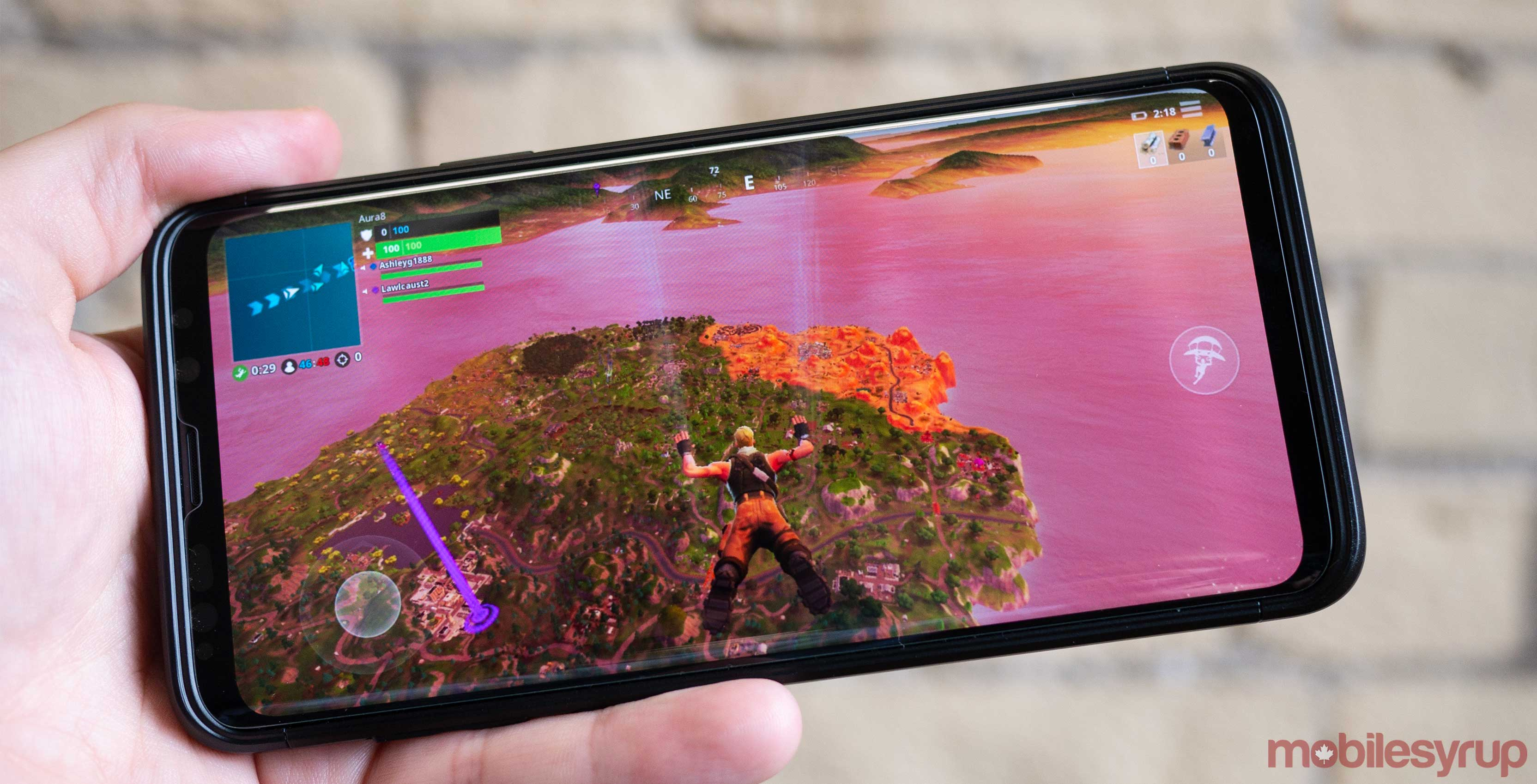 Fortnite diving on Android