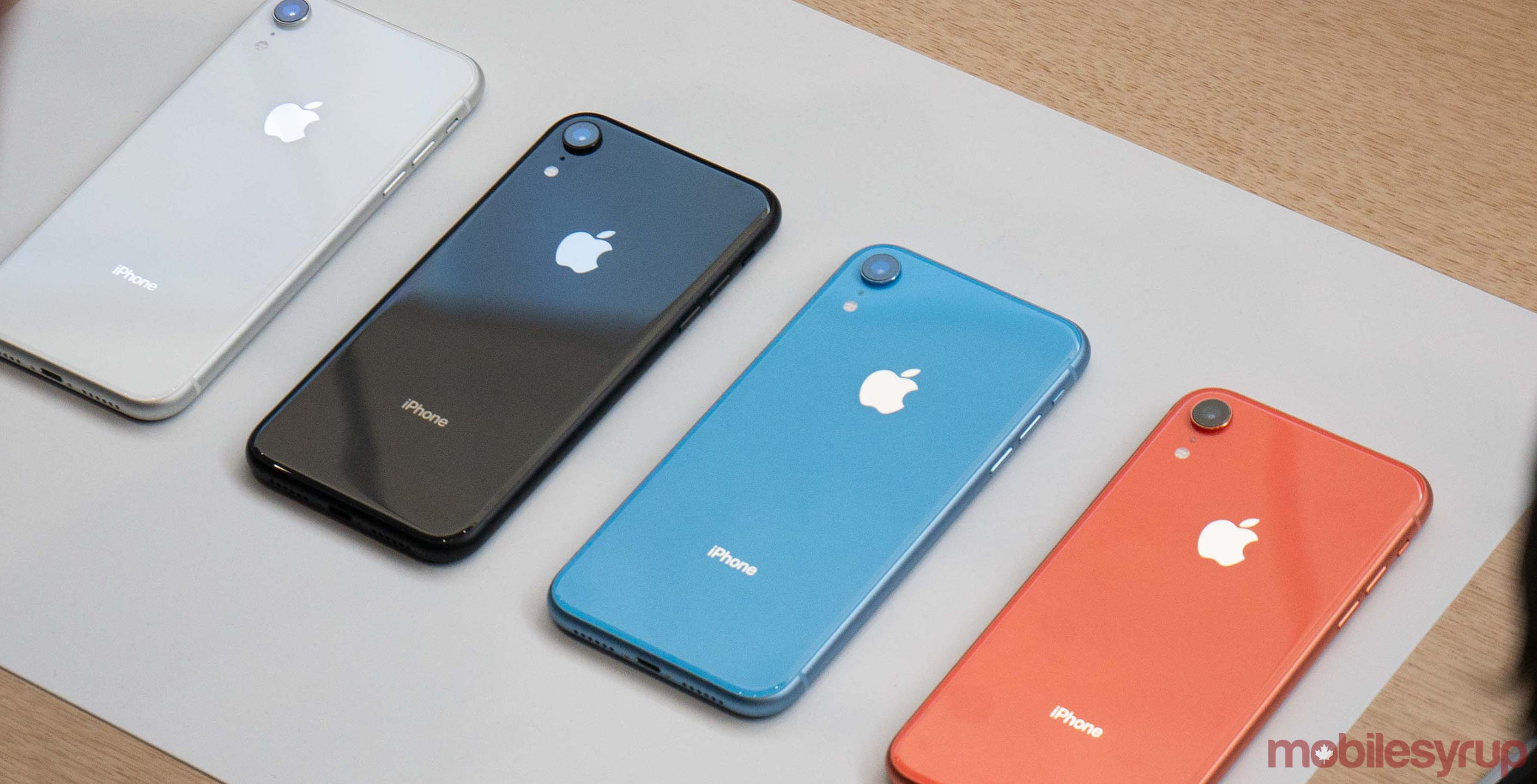 iPhone XR colours
