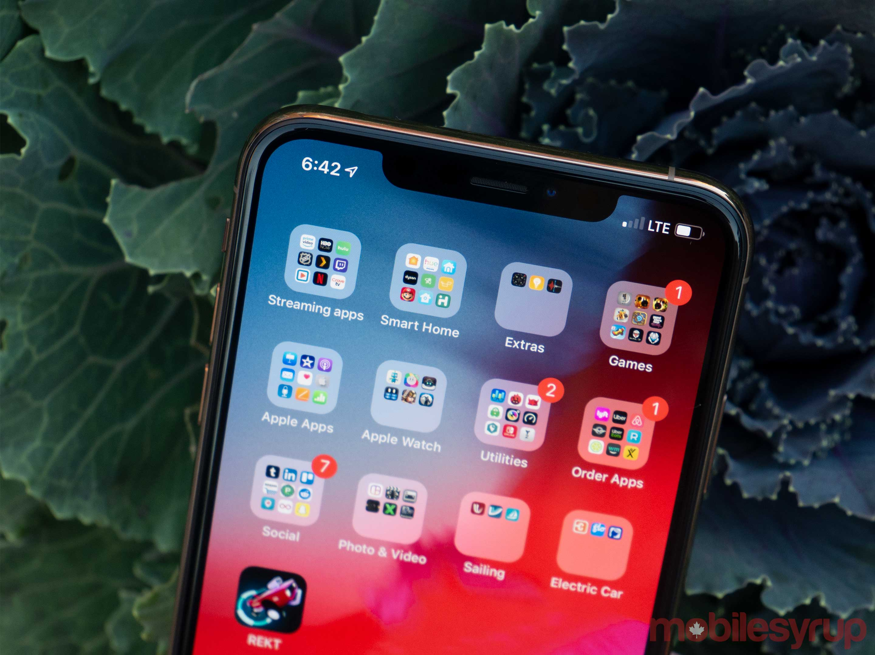 iPhone XS Max notch