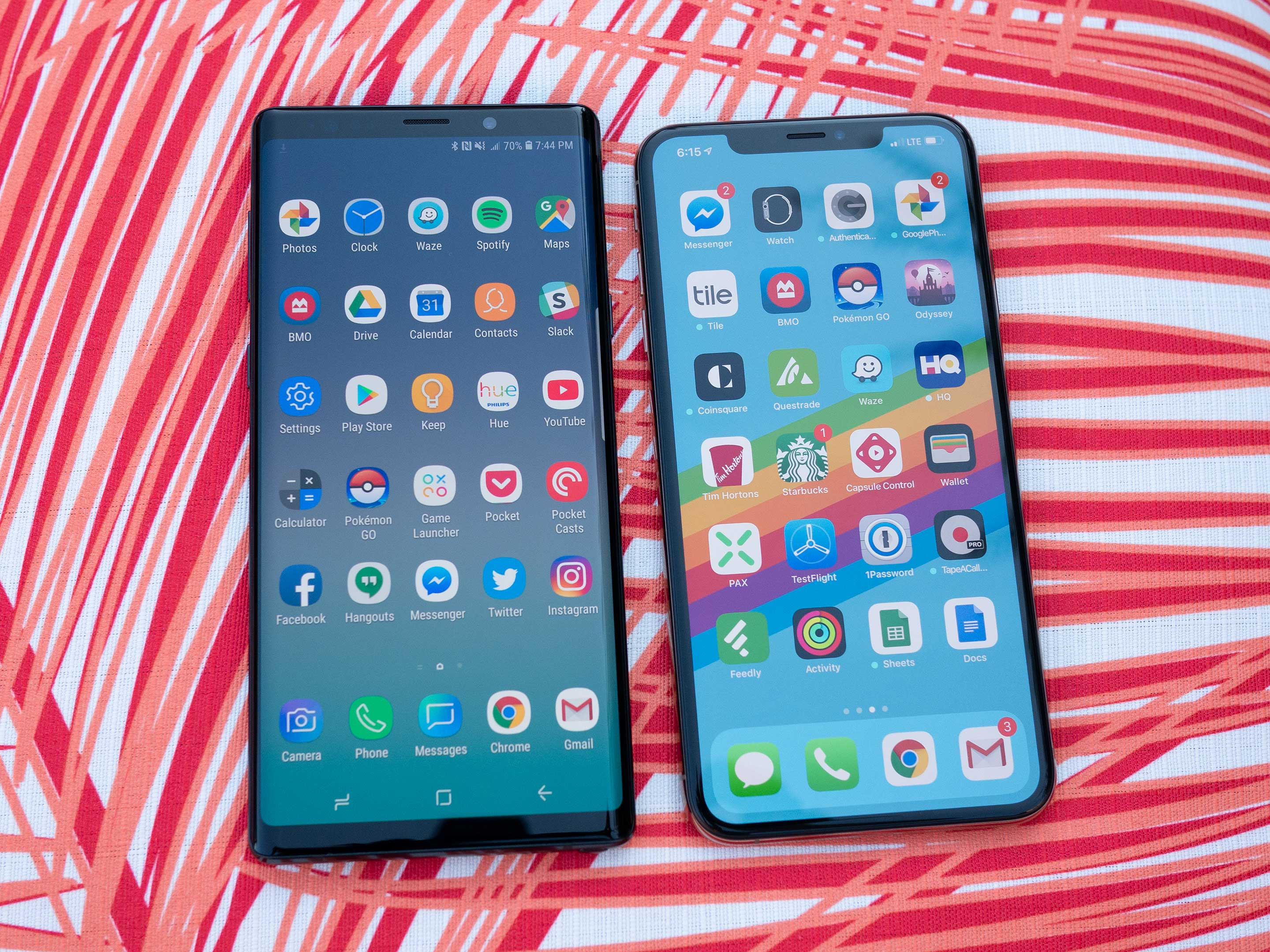 iPhone X vs Note 9
