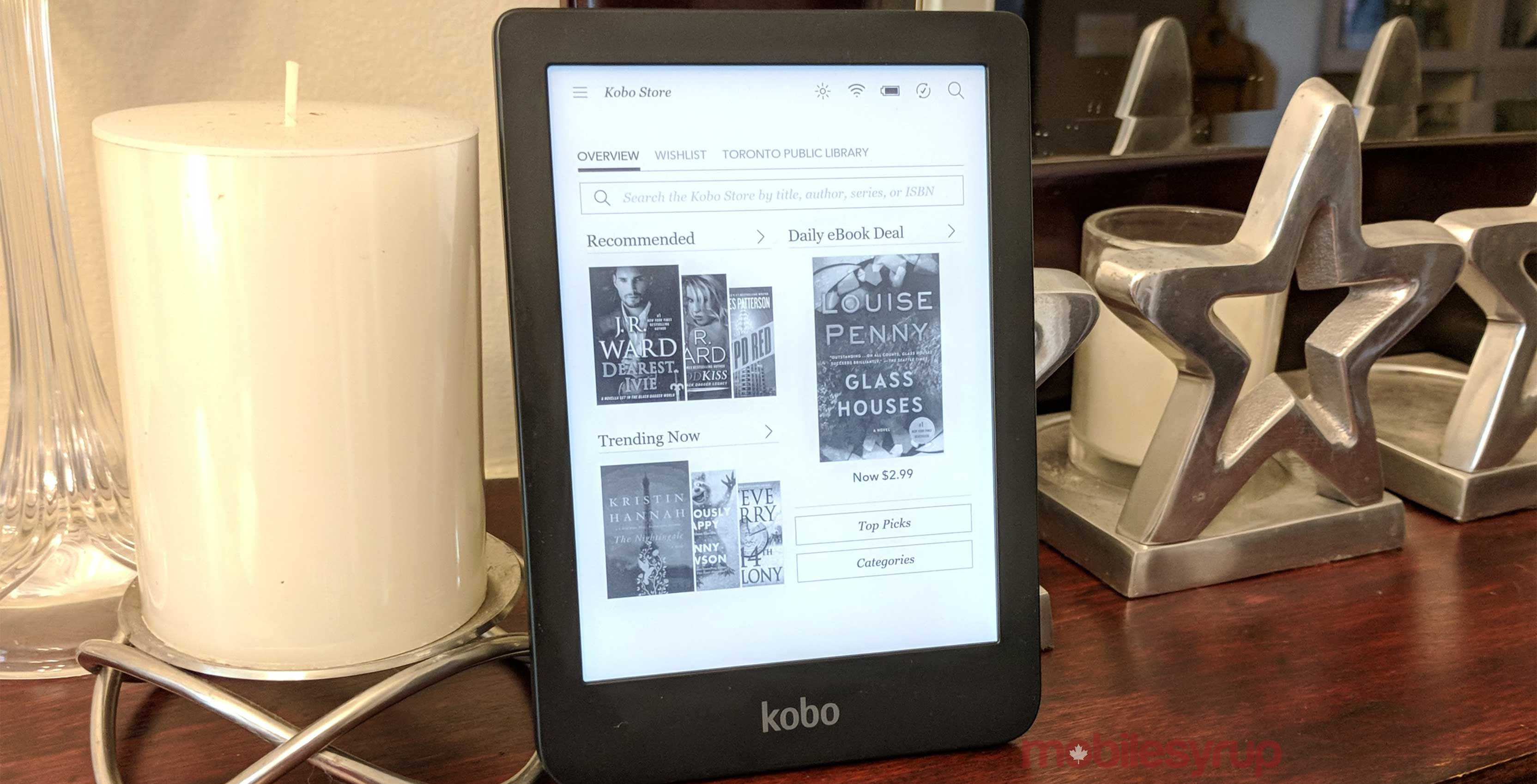 Kobo Clara HD on table