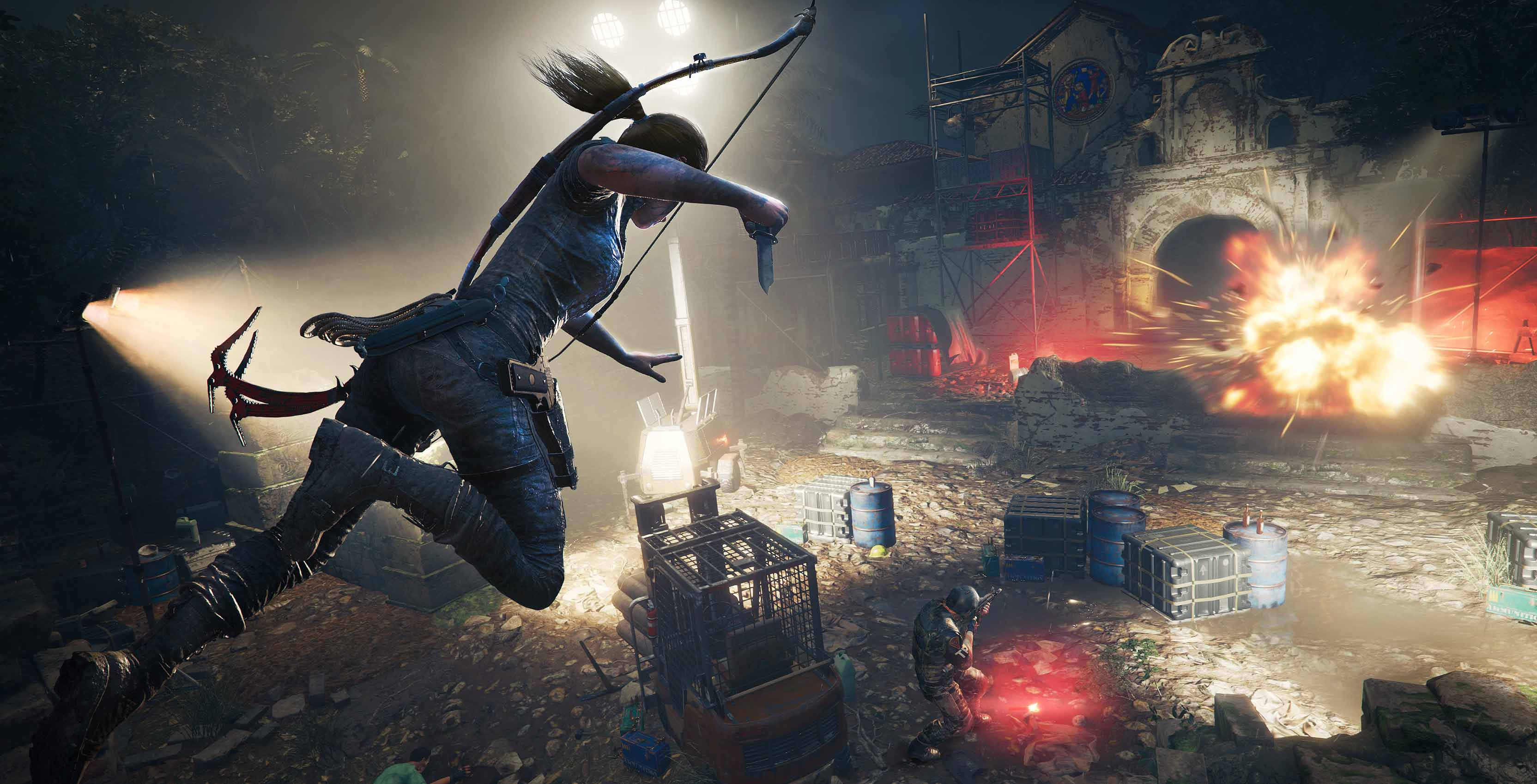 Shadow of the Tomb Raider combat