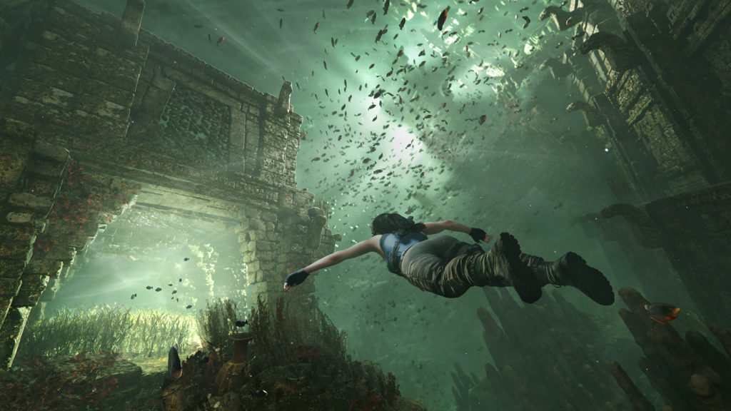 Shadow of the Tomb Raider swimming