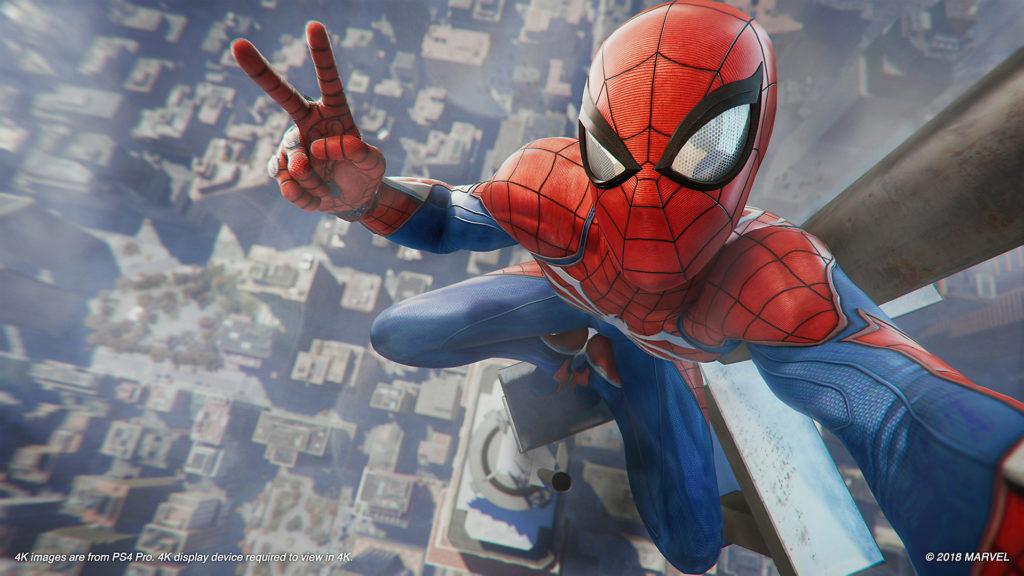 Spider-Man top of building