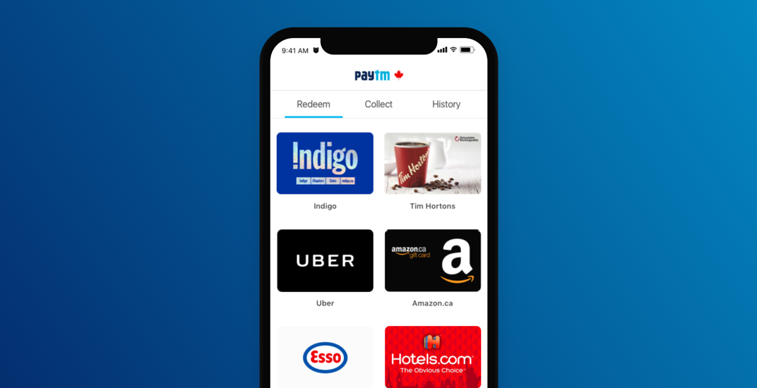 Paytm Canada app offering new customers 10,000 Welcome