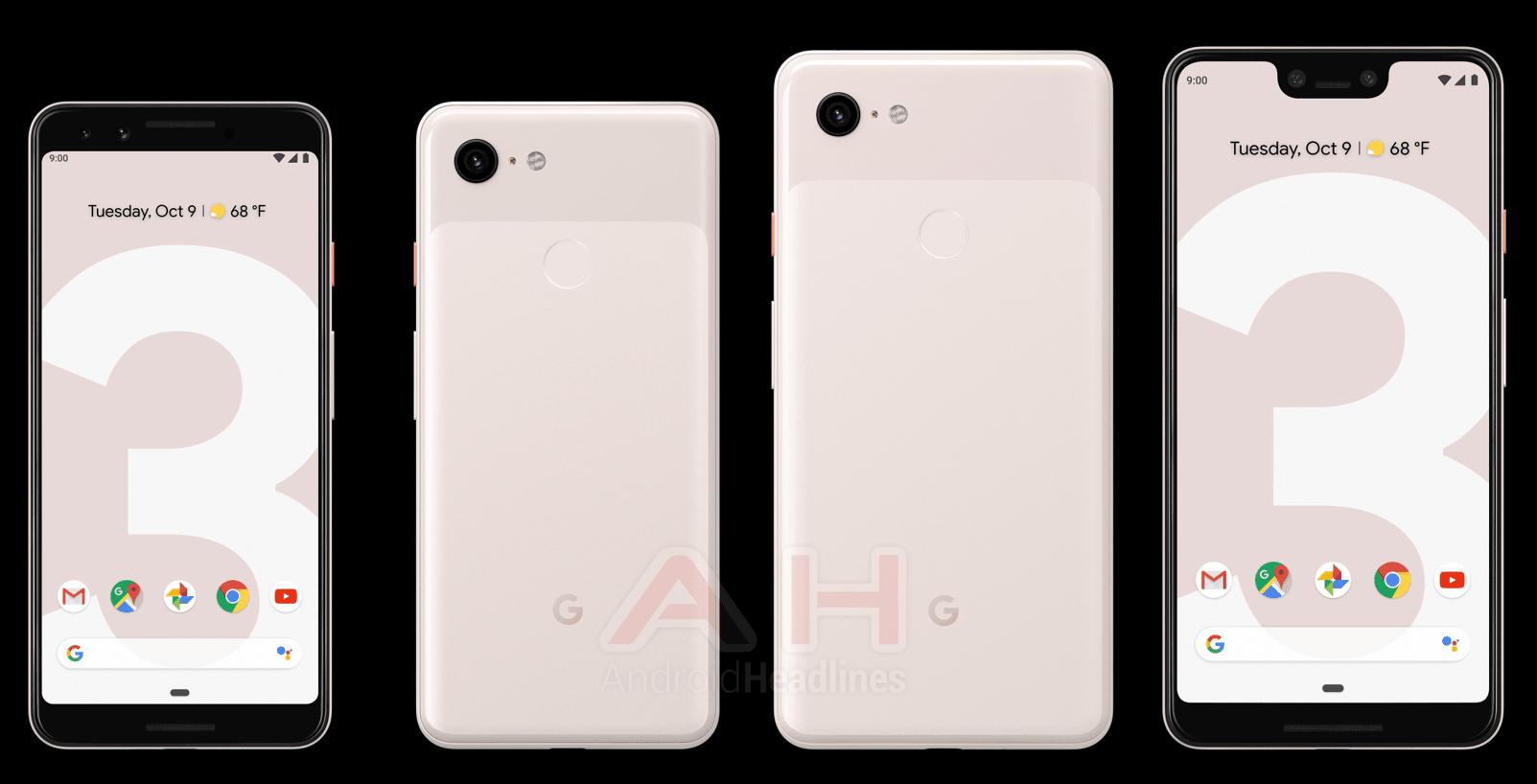 hot sale online 04187 ba2aa Google's Pixel 3 leaks in 'Sand' light pink colour