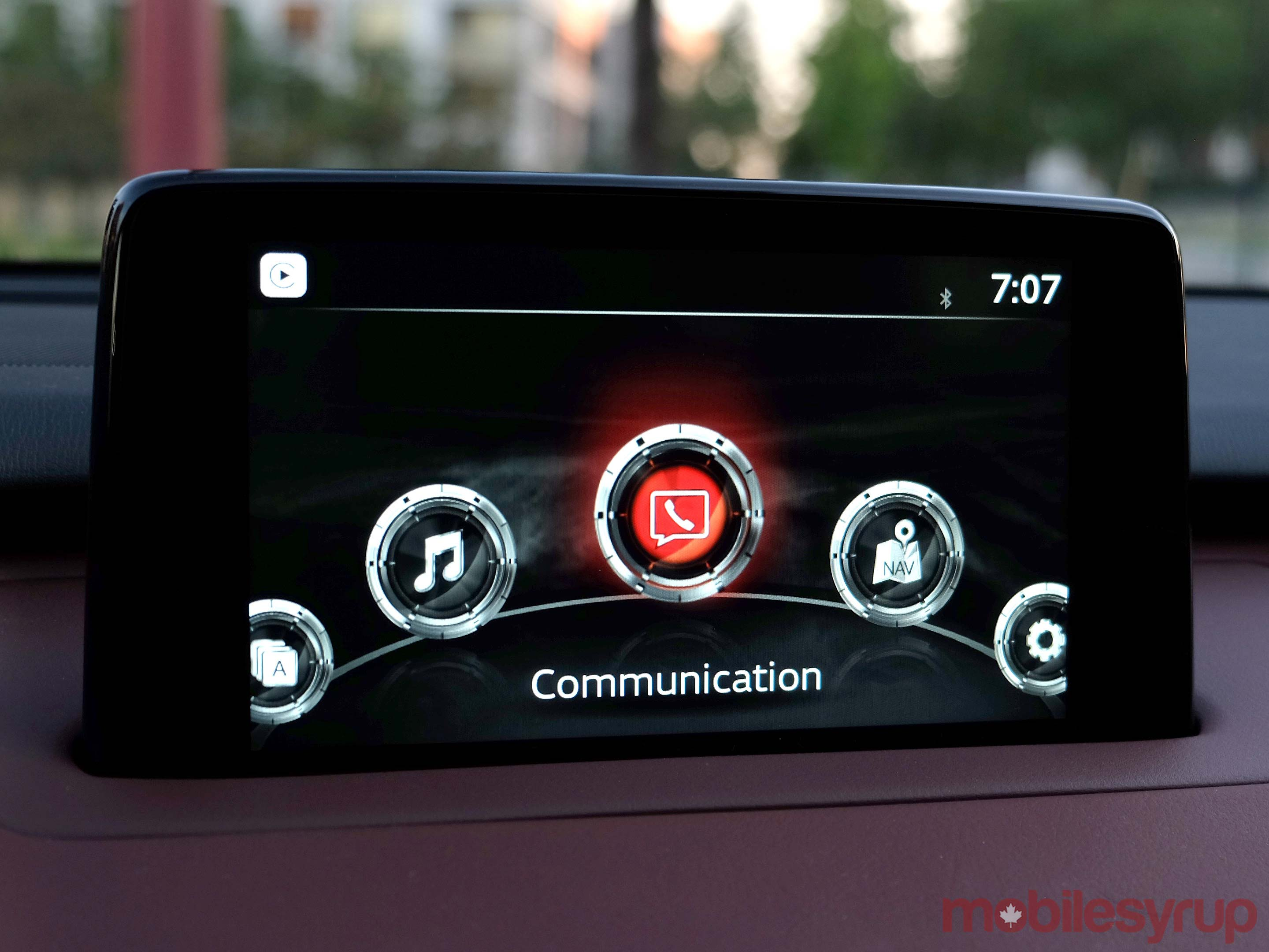 Mazda Connect home screen
