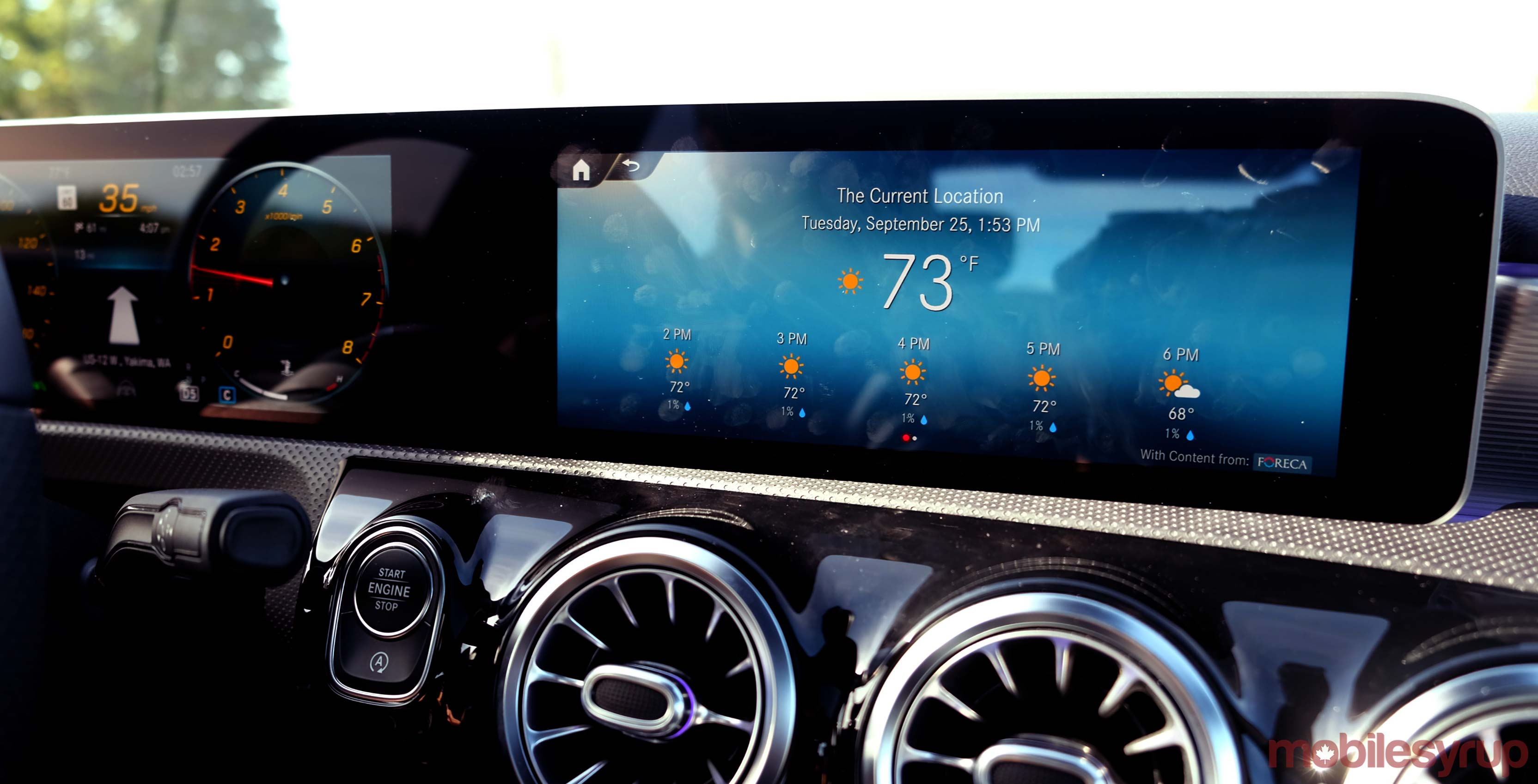 mercedes-benz mbux infotainment system hands-on: feeling ambitious