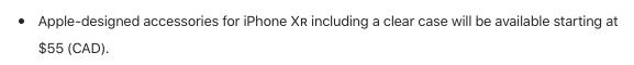 iPhone XR Apple Canada press release
