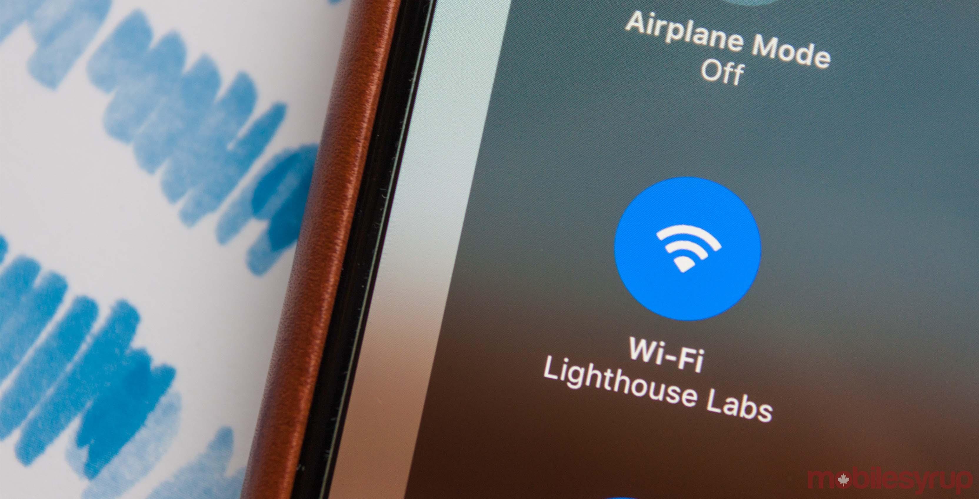 WiFi symbol, iOS