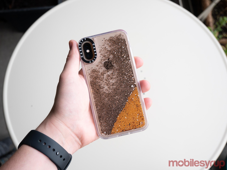 Casetify iPhone XS glitter
