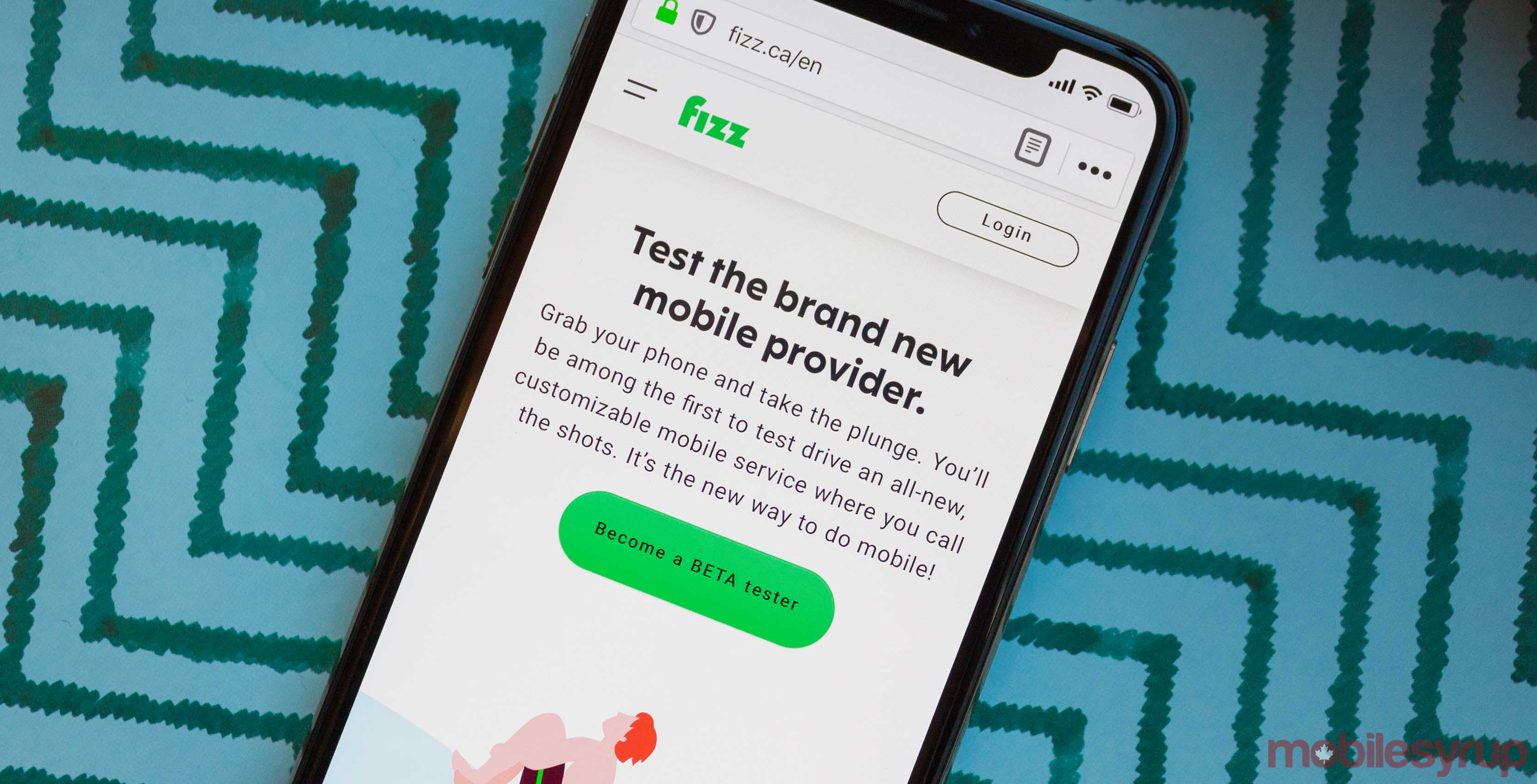 Fizz Mobile website