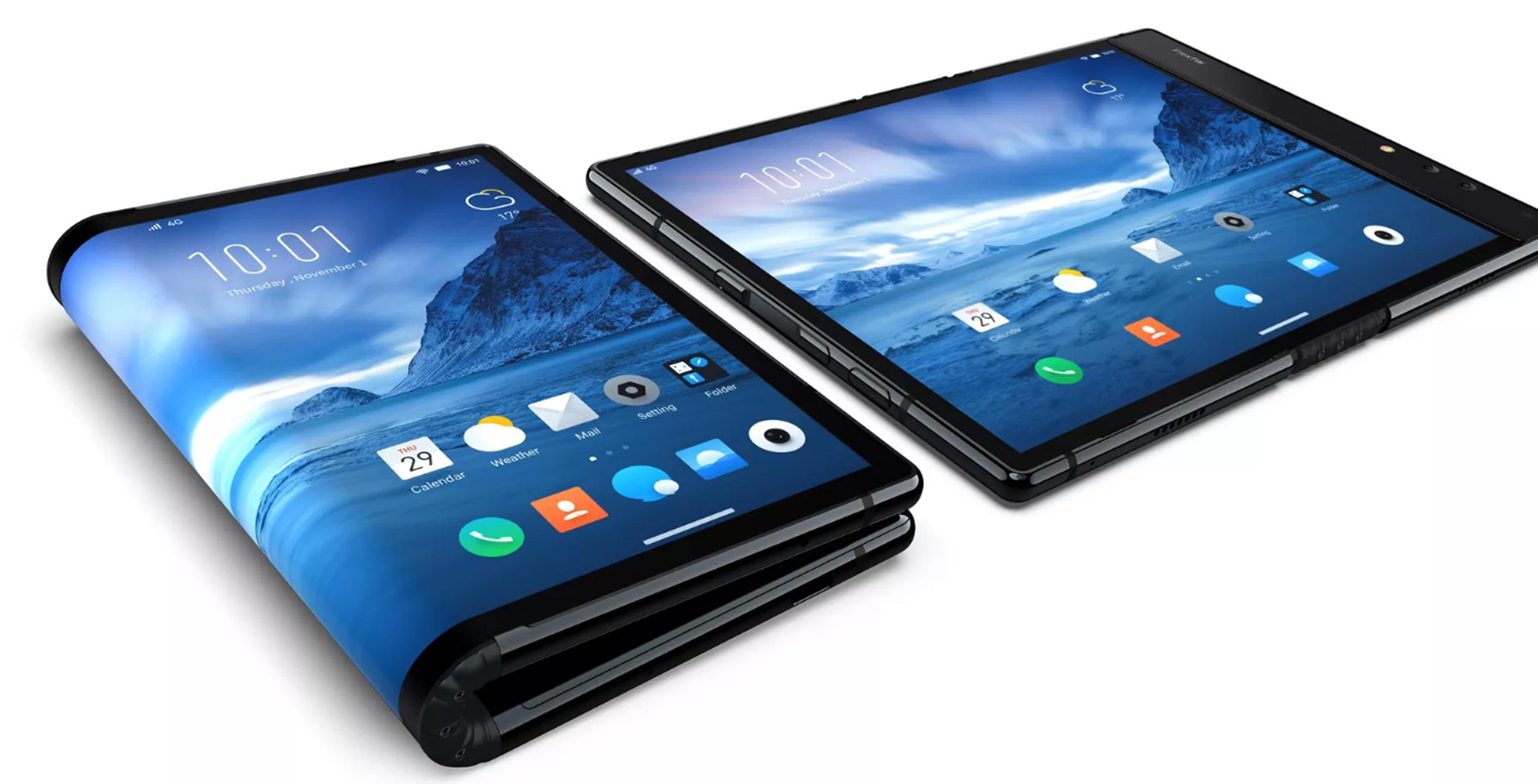 World's first foldable smartphone unveiled