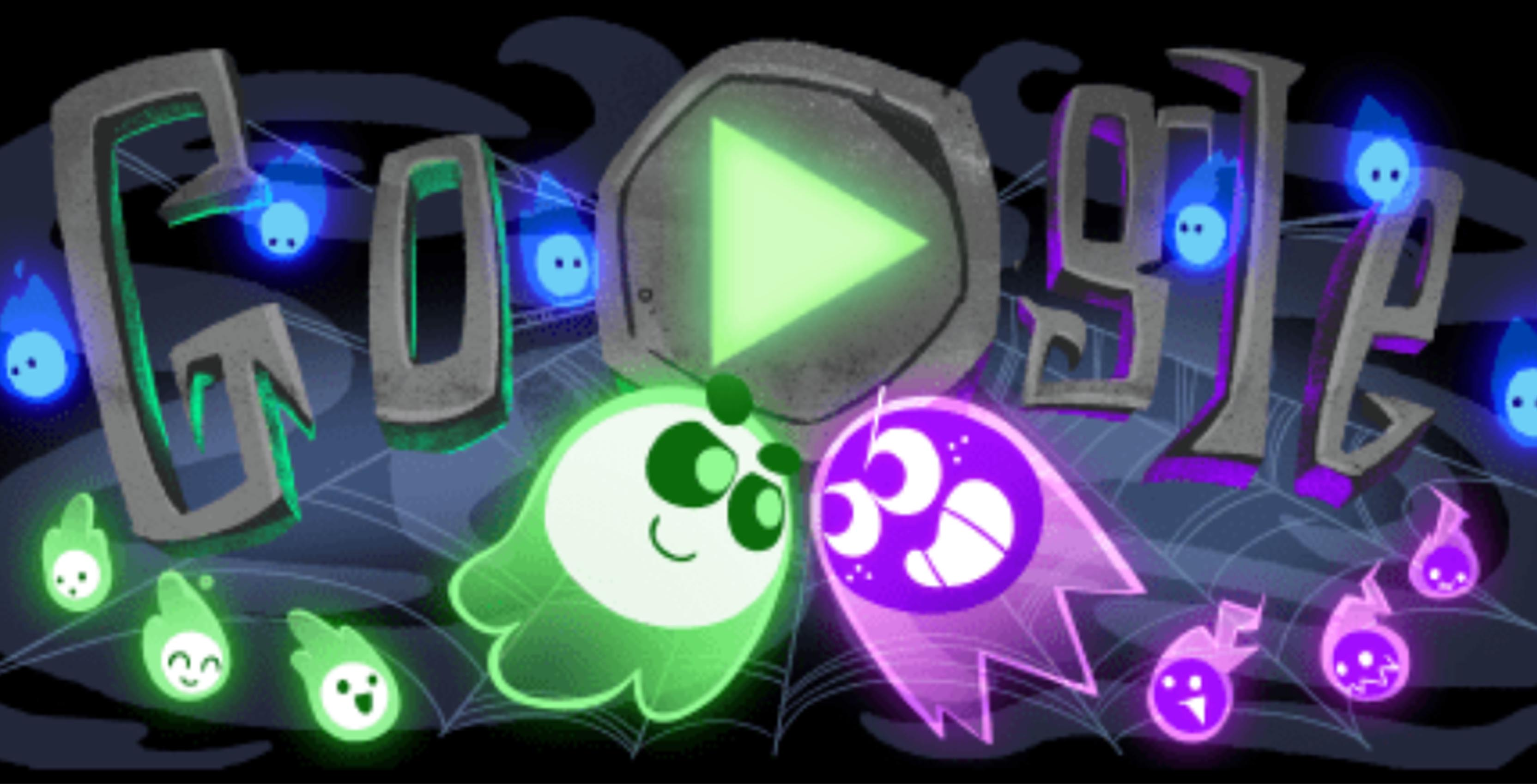 Google's latest Doodle celebrates Halloween as a multiplayer game