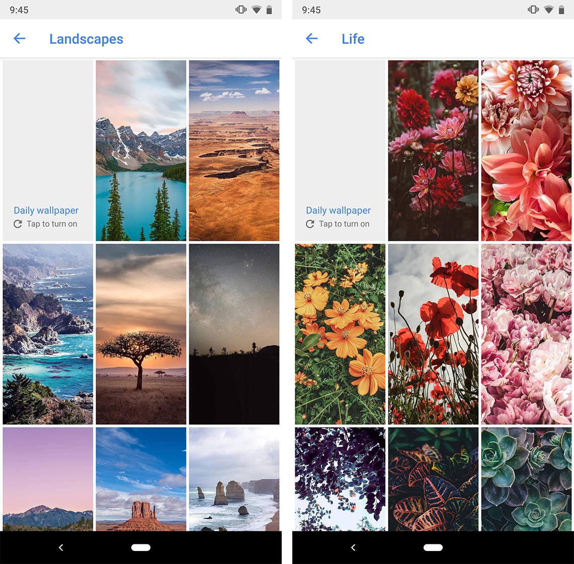 google wallpapers update refreshes art earth and other collections