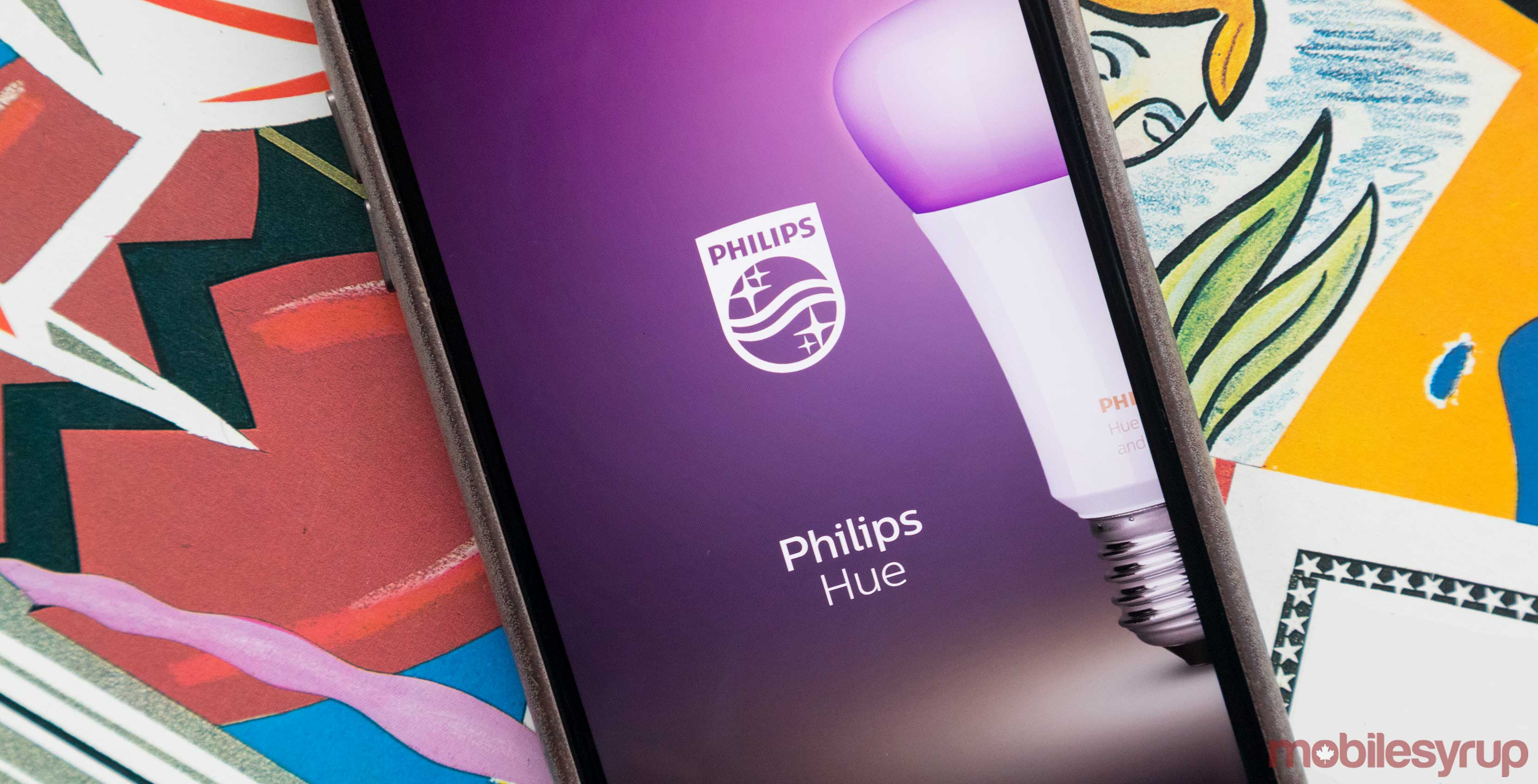 Philips Hue on phone