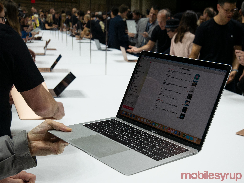2018 MacBook Air side view