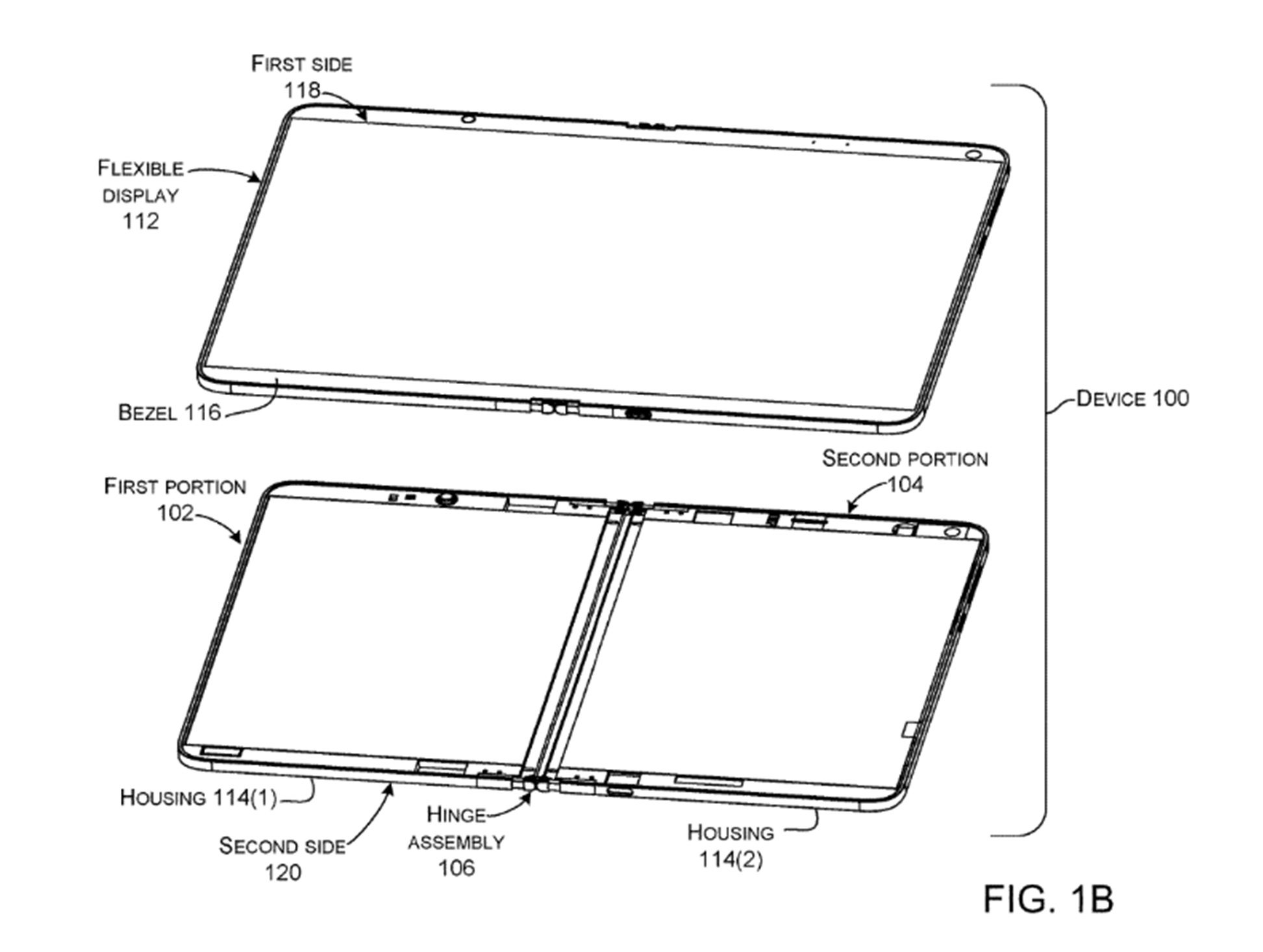 Microsoft folding Surface patent