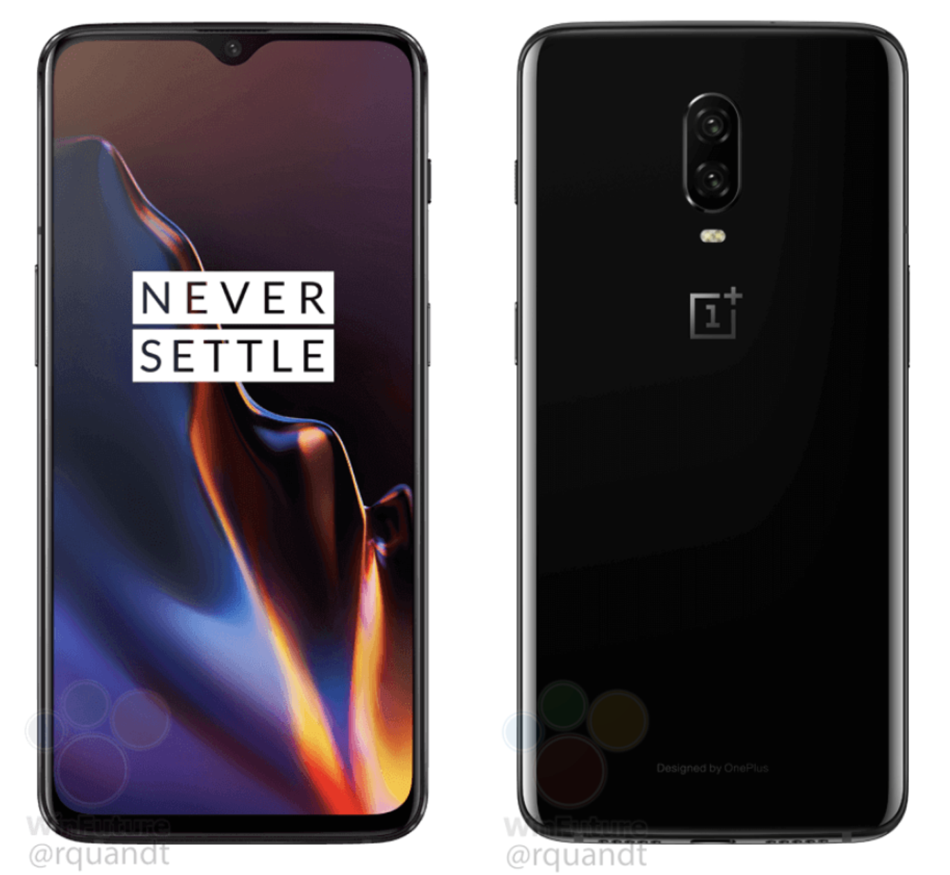 Leaked Oneplus 6t Renders Confirm Mirror Black And