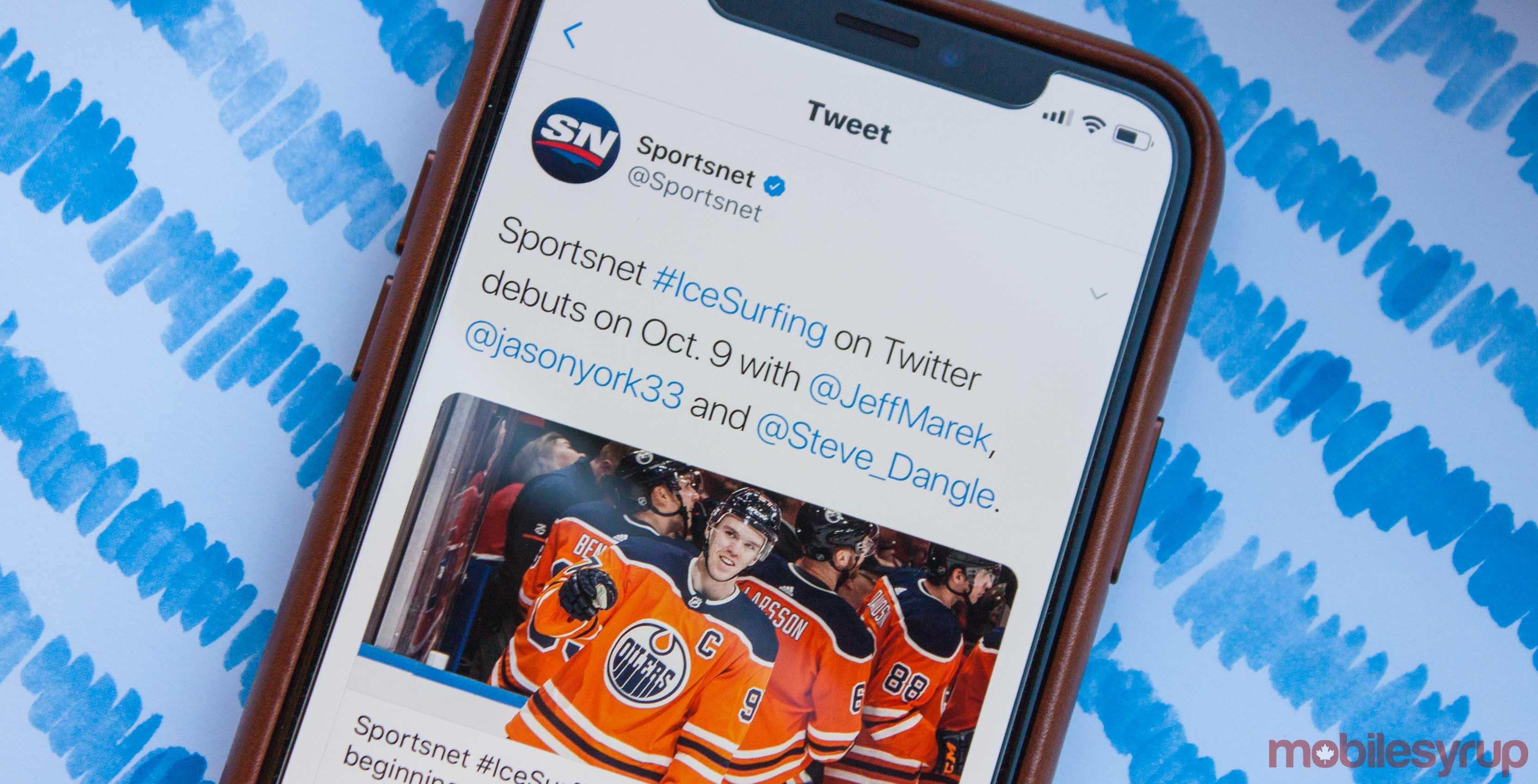 Sportsnet #IceSurfing Twitter header