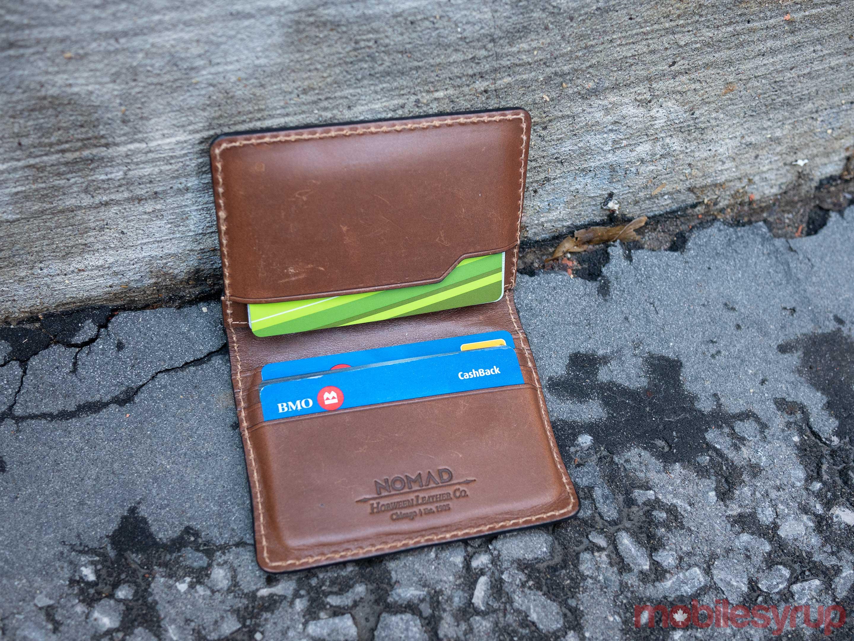 Nomad S Slim Wallet Features Built In Tile Tracker Pocket