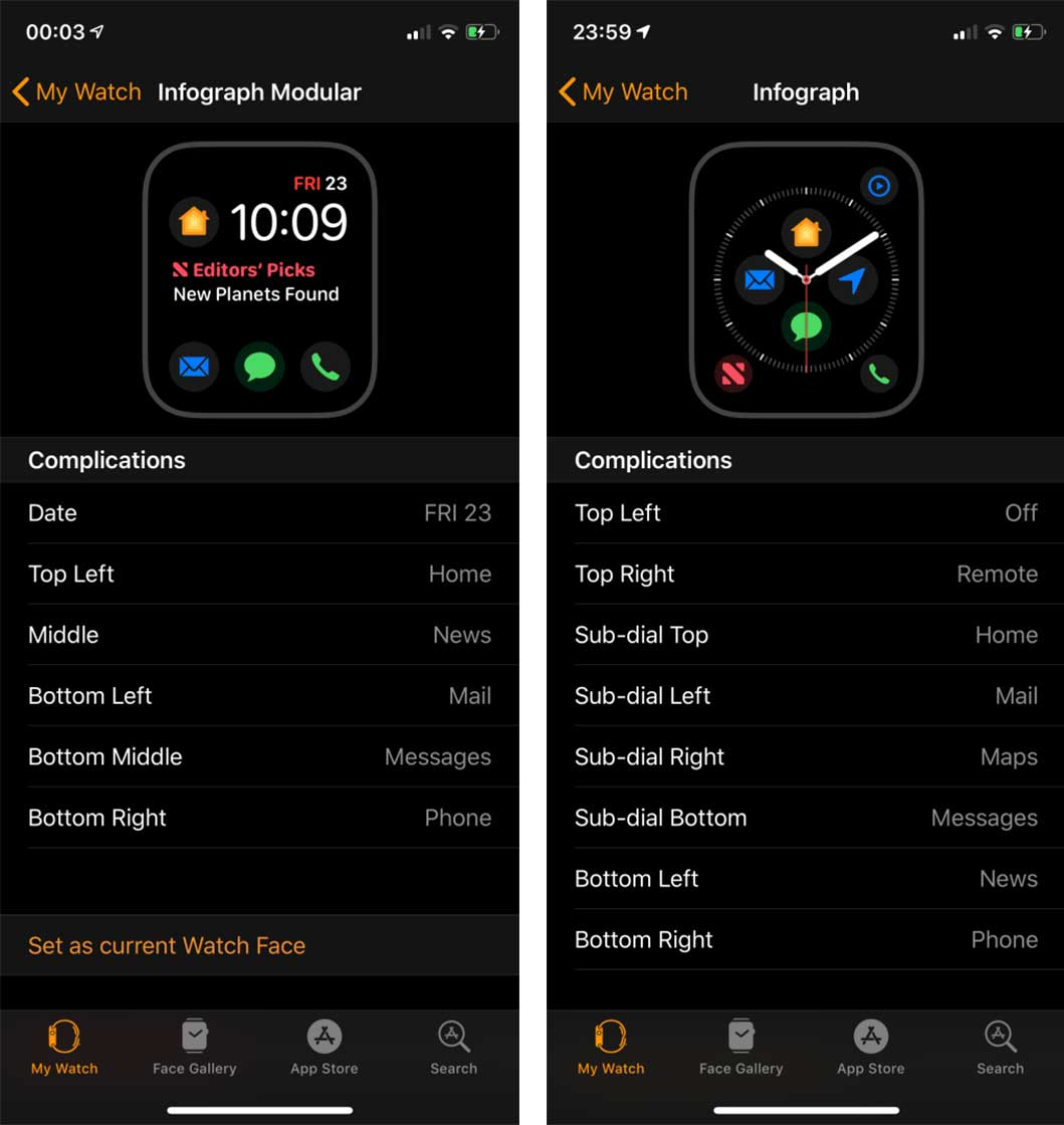 Seven new app complications leak for Apple Watch Series 4