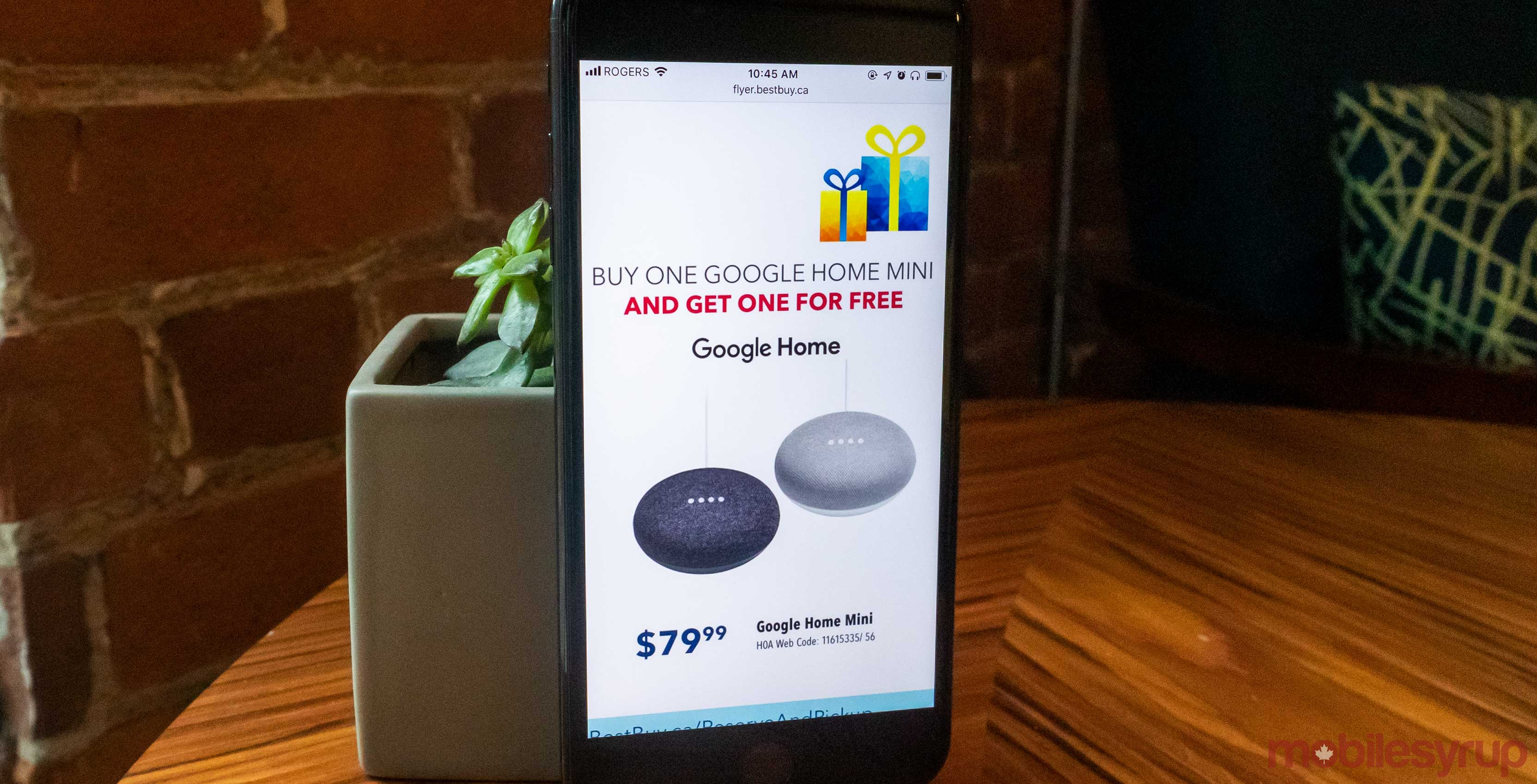 Best Buy Offering Buy One Get One Free On Google Home Minis In Canada