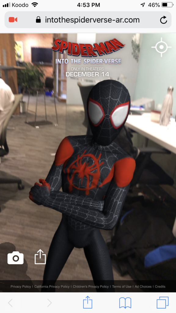 Spider-Man: Into the Spider-Verse AR