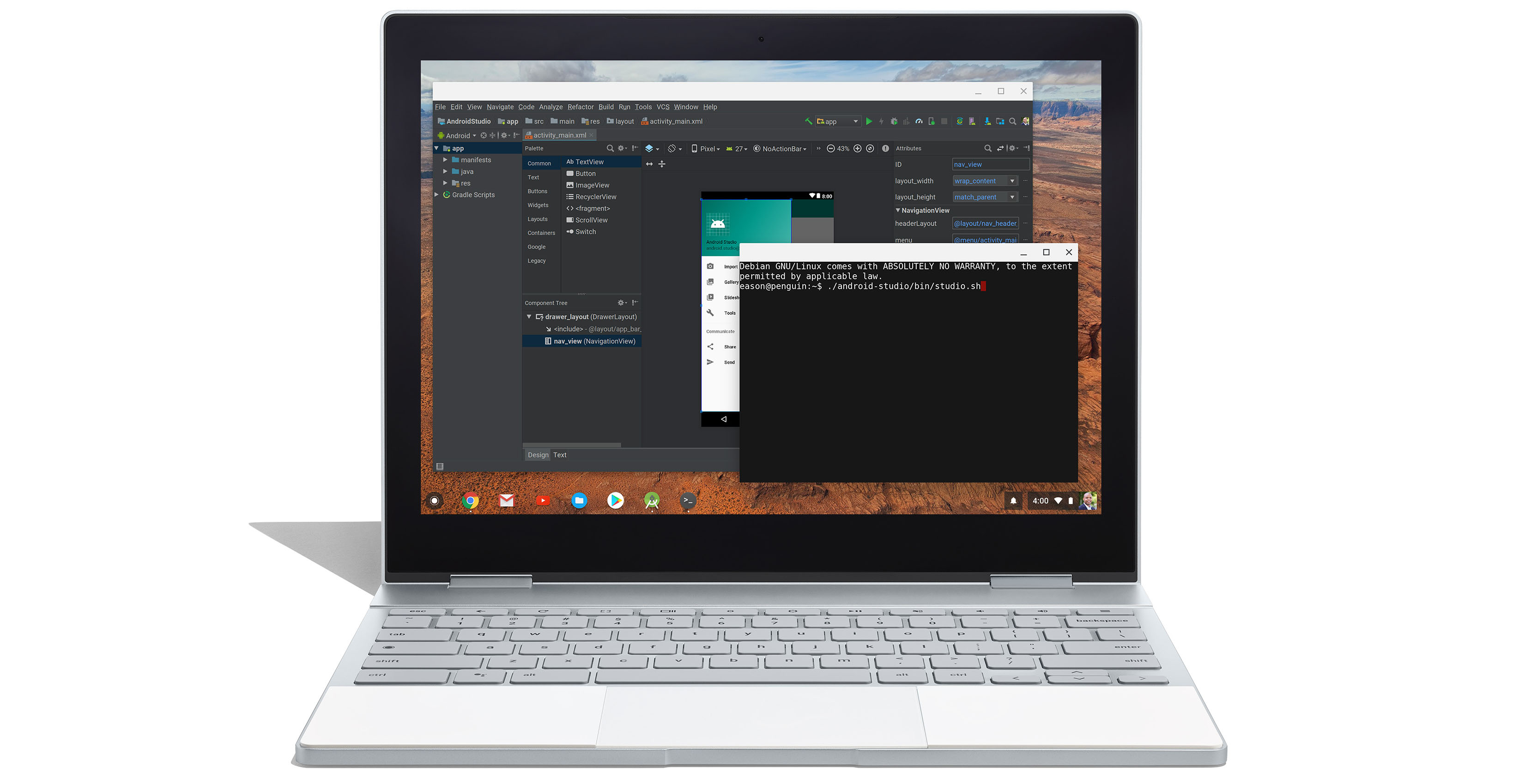 Android Studio on Chrome OS
