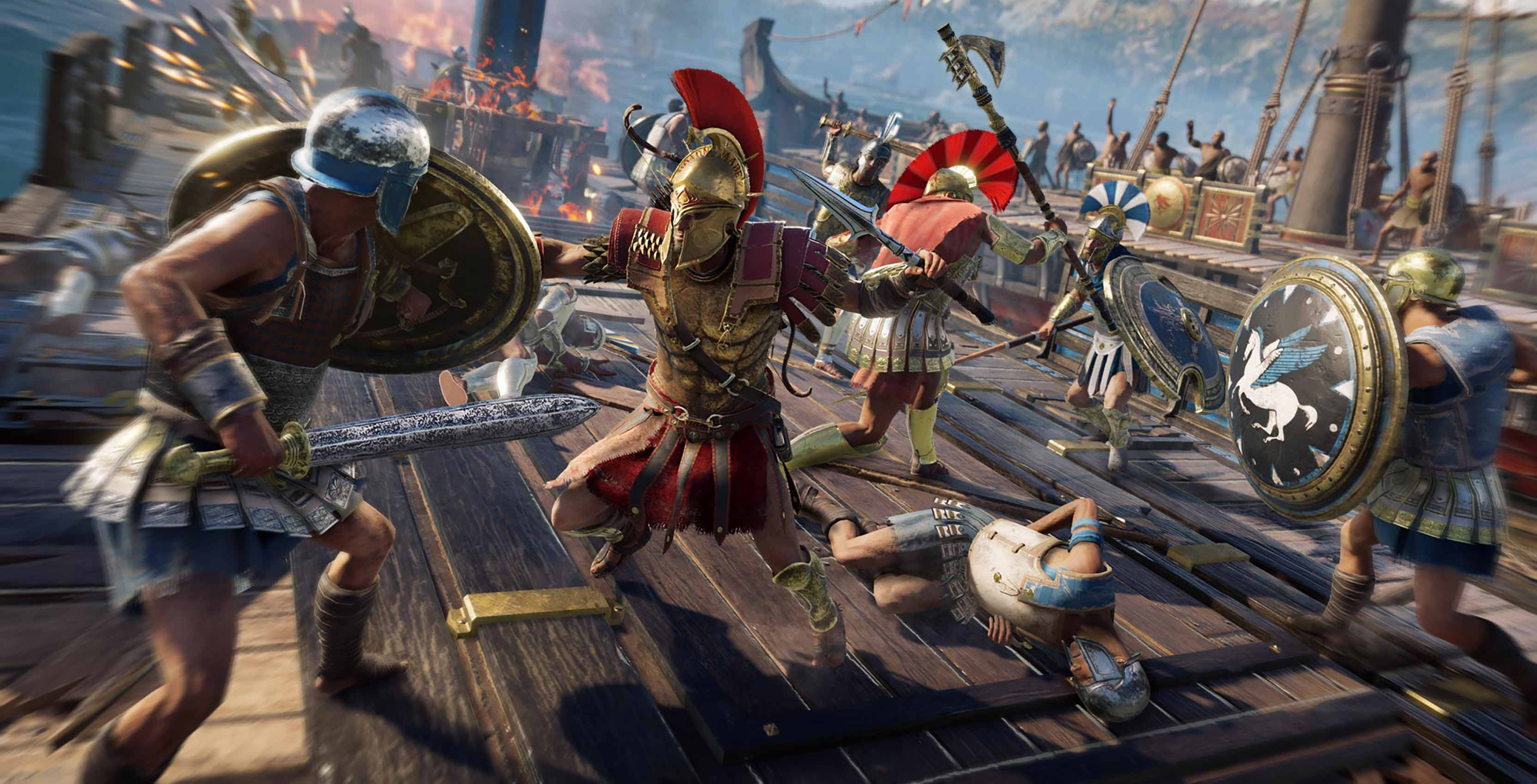 Assassin's Creed Odyssey combat on boat