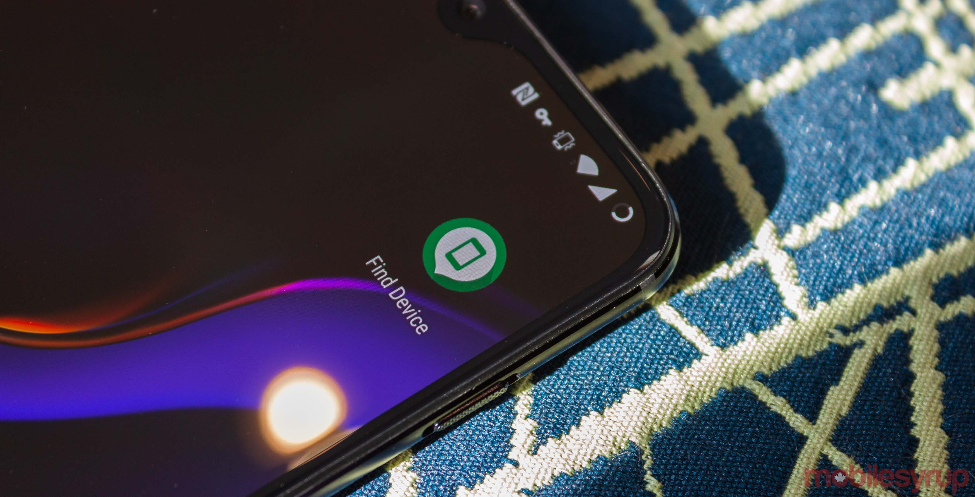 Find My Device on OnePlus 6T