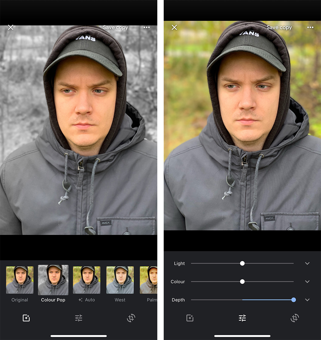 Google Photos for iOS gets portrait mode depth editing