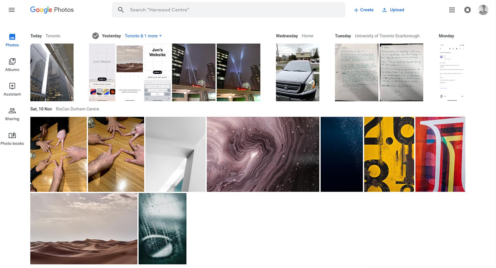 Google Photos website redesign