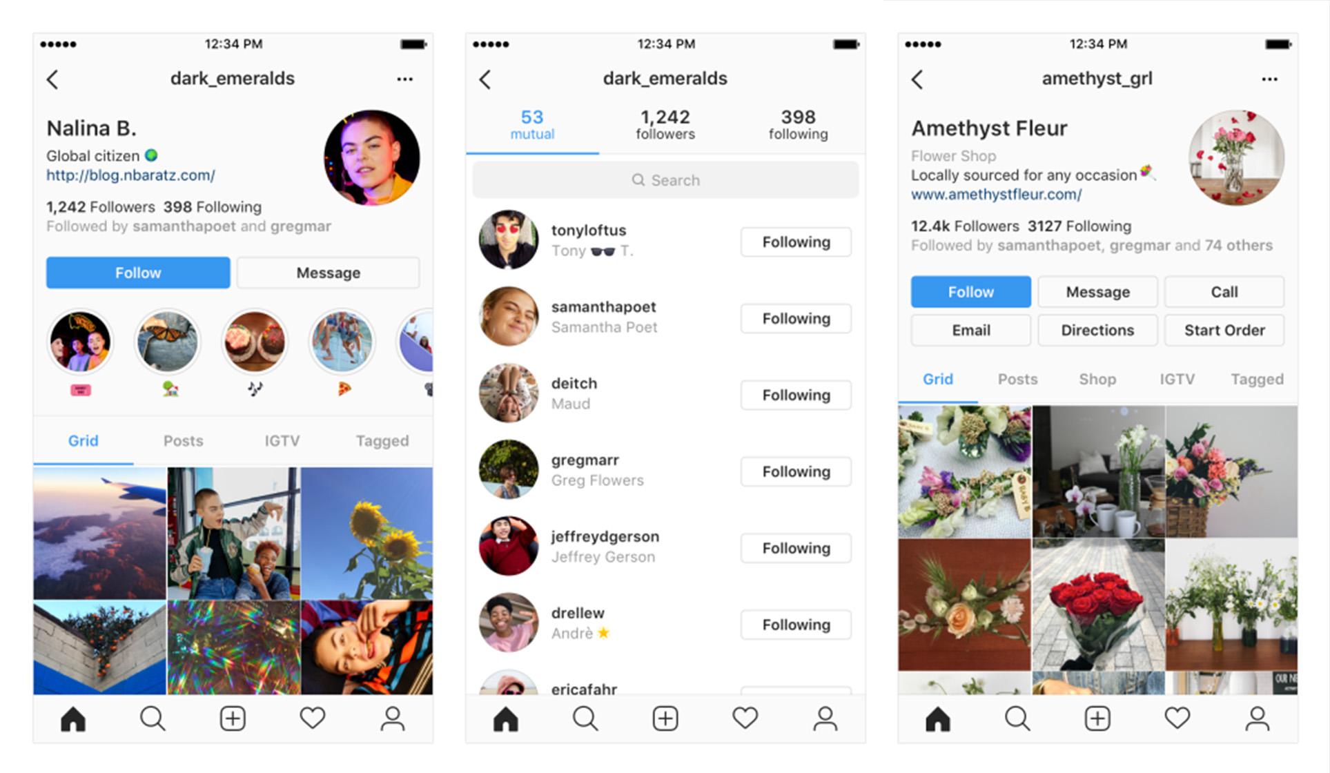 Instagram's profile experiments
