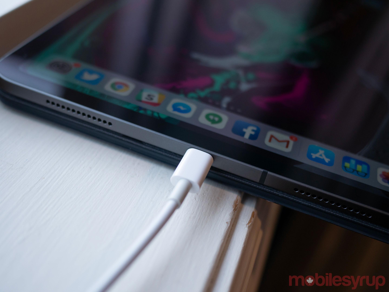 iPad Pro 2018 USB-C charging