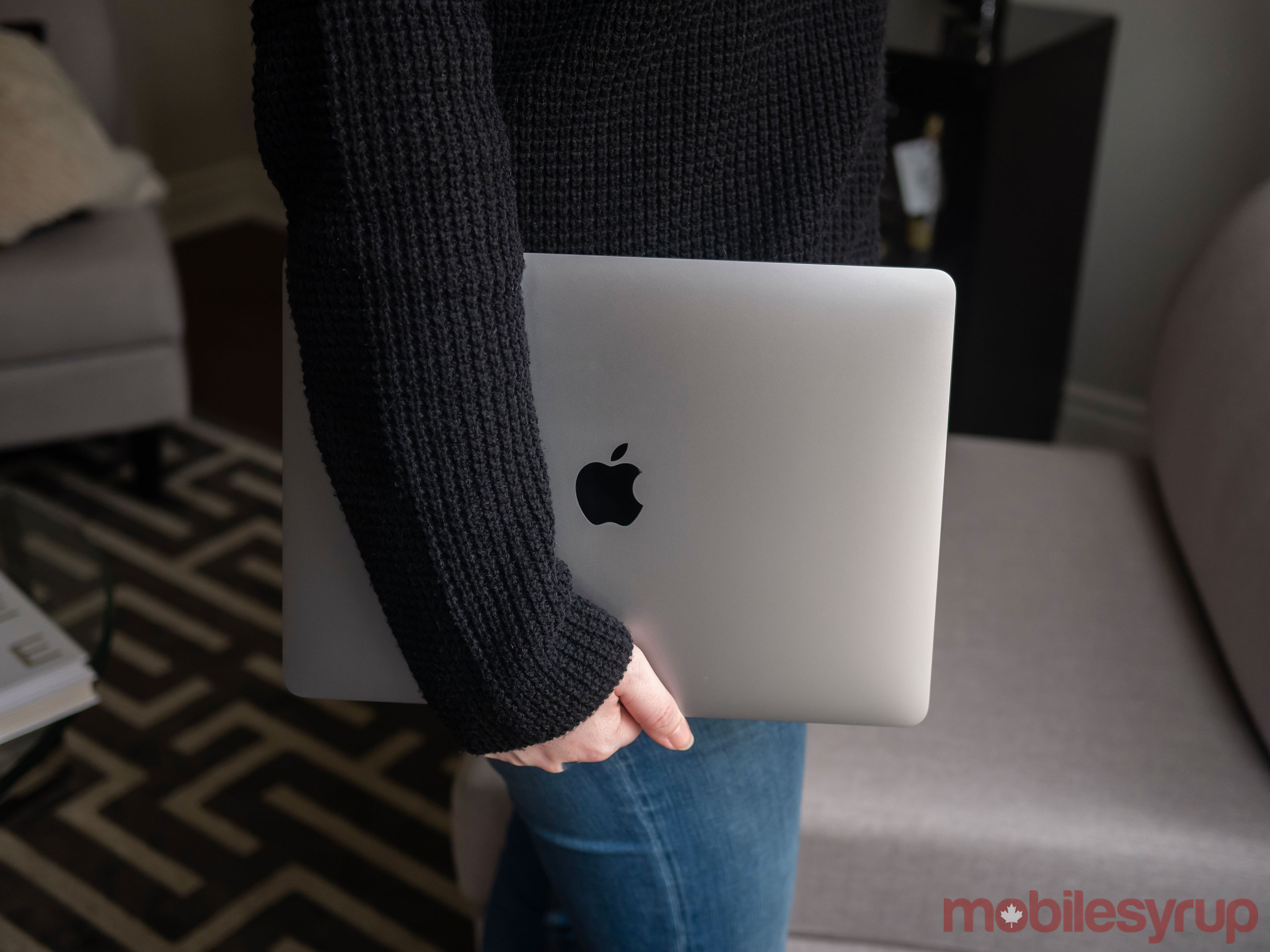 MacBook Air in Hand