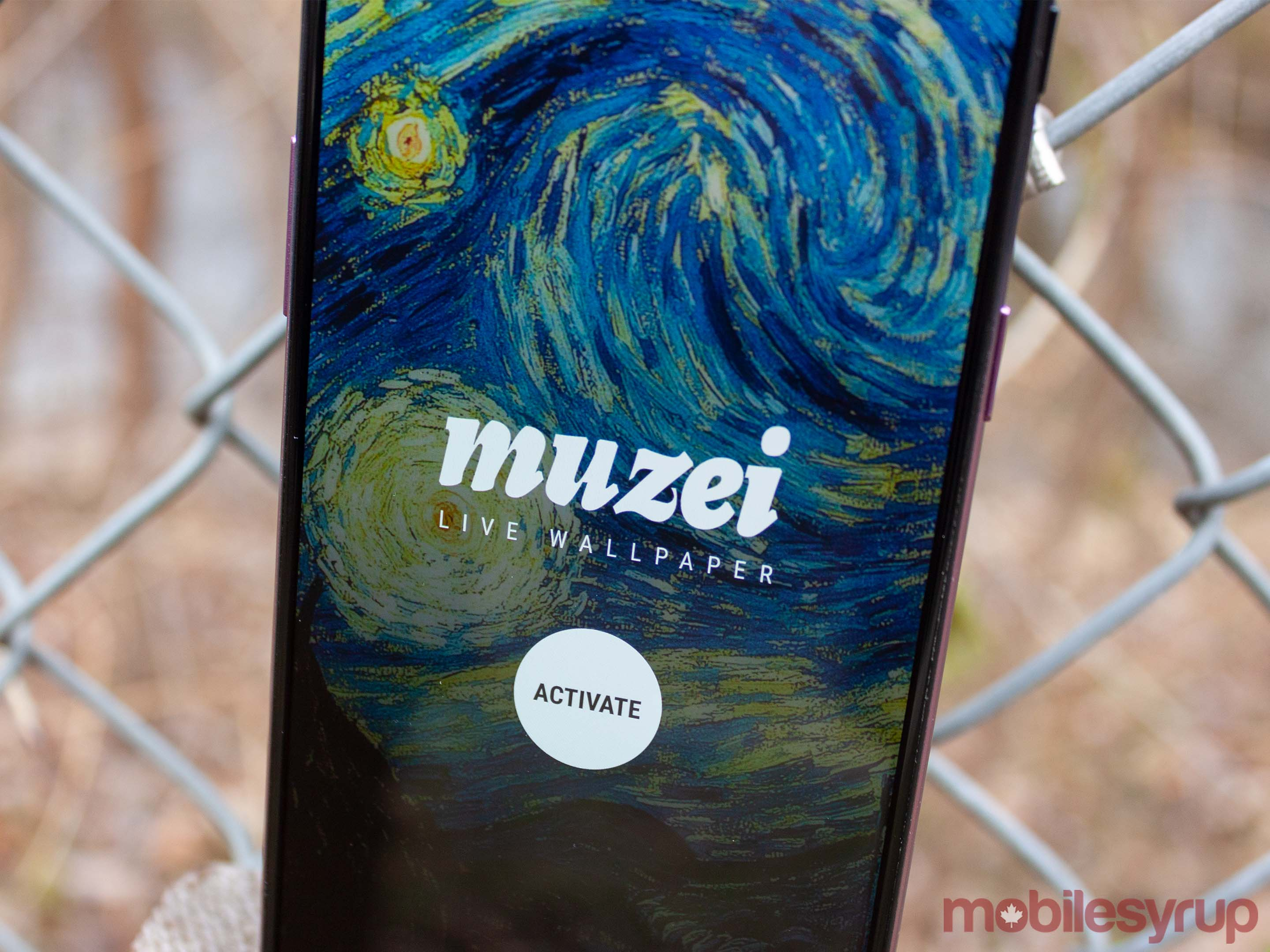 Muzei app on Android