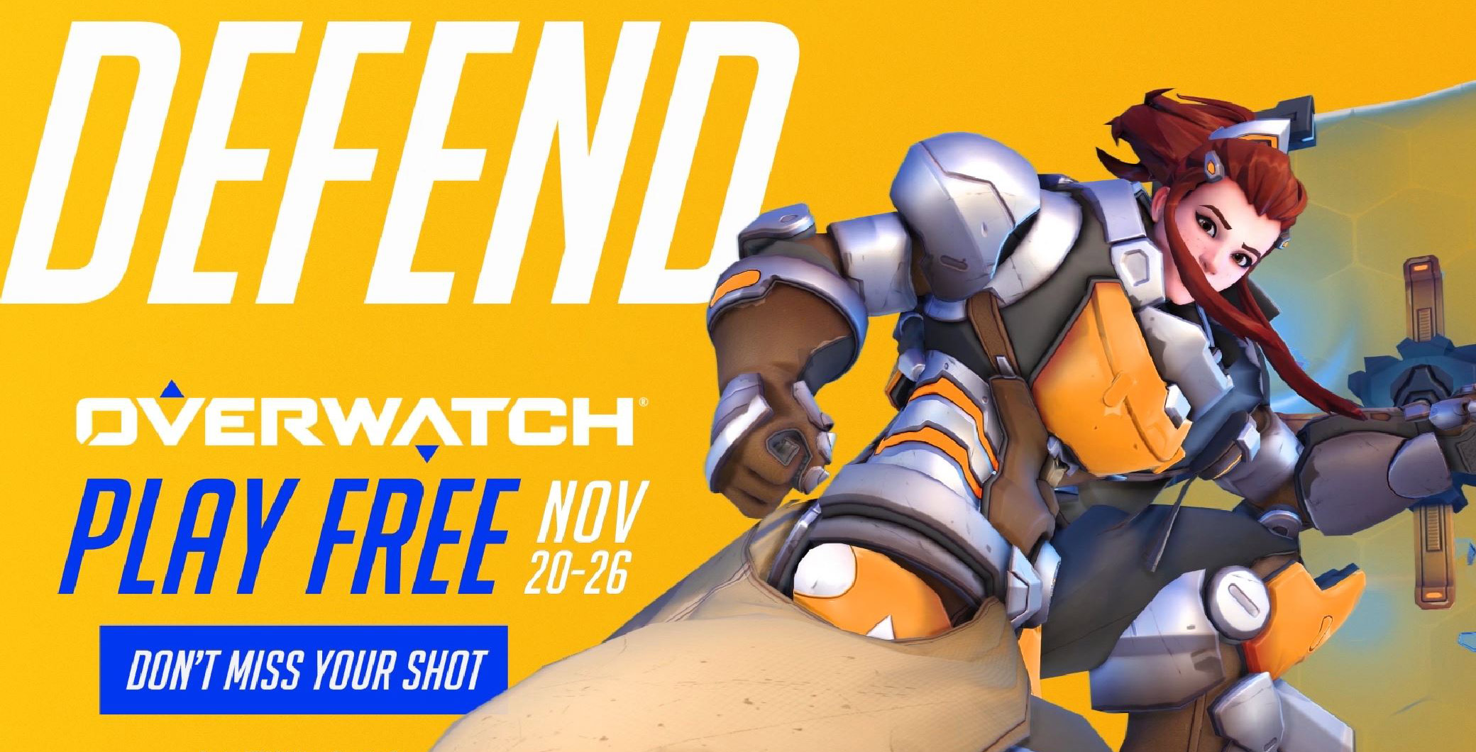 Overwatch free trial runs from November 20th to the 26th